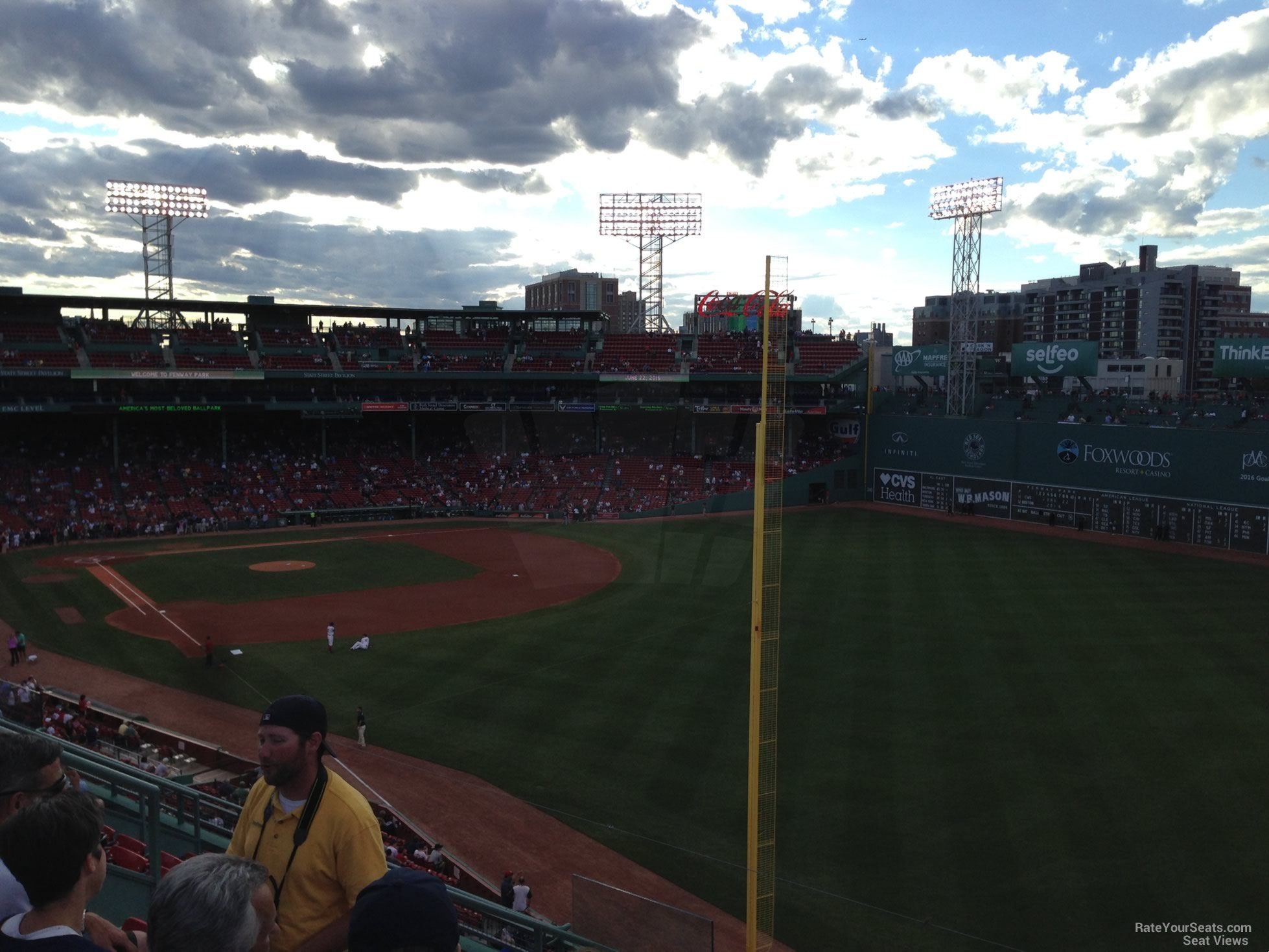 Seat View for Fenway Park Roof Box 37, Row G