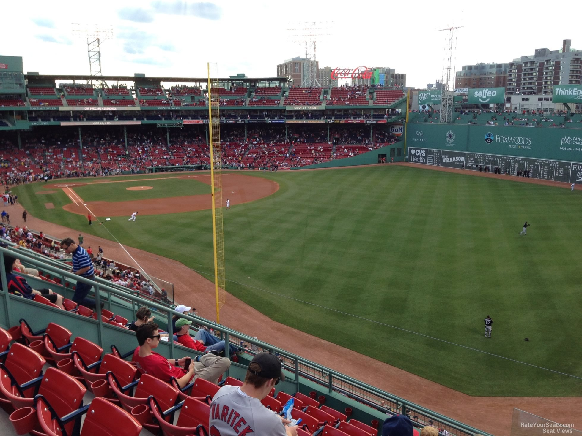 Seat View for Fenway Park Roof Box 43, Row G