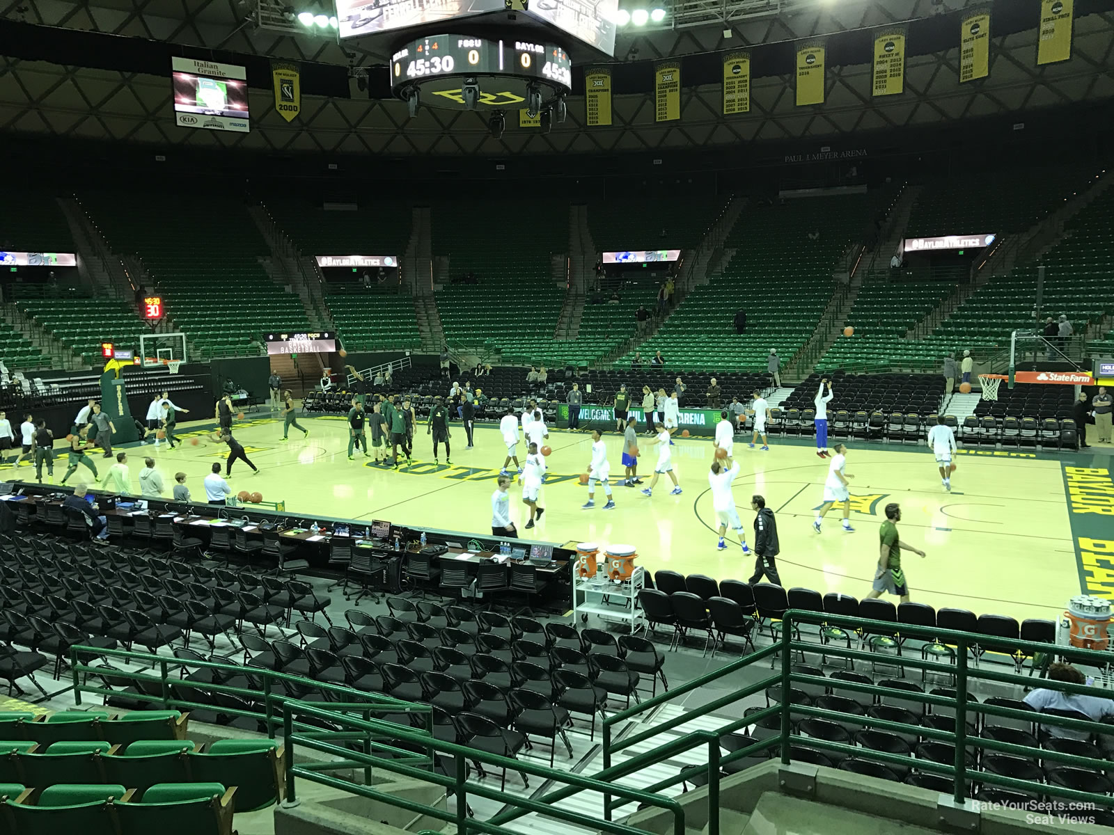 Seat View For Ferrell Center Section 111