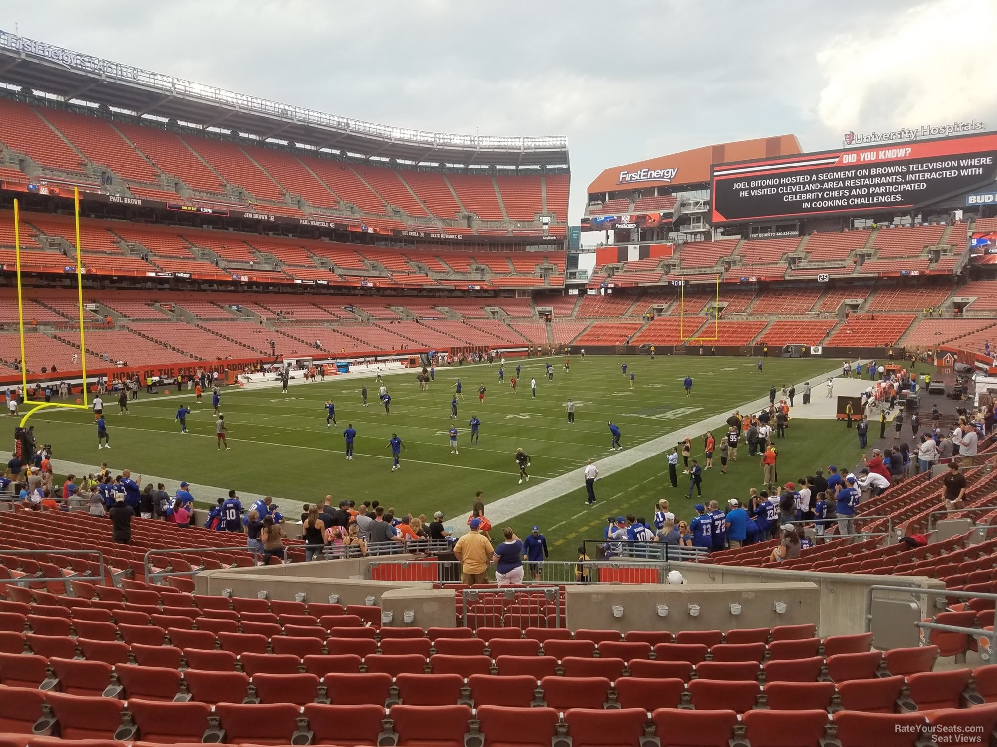 Seat View for First Energy Stadium Section 101, Row 22