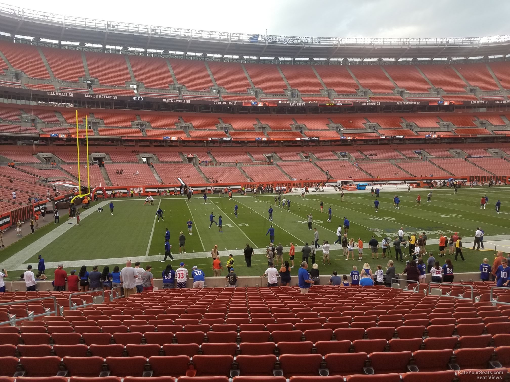 Seat View for First Energy Stadium Section 105, Row 22