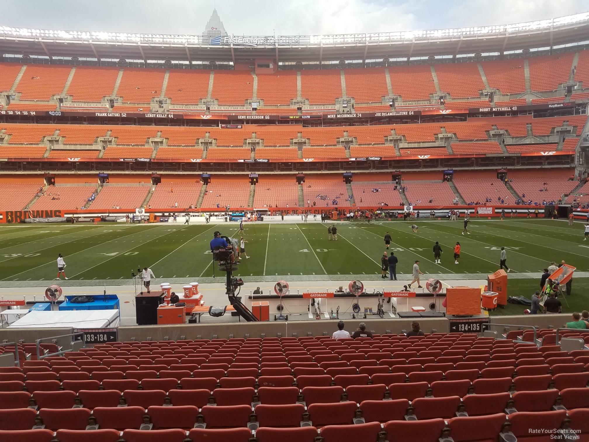 Seat View for First Energy Stadium Section 134, Row 17