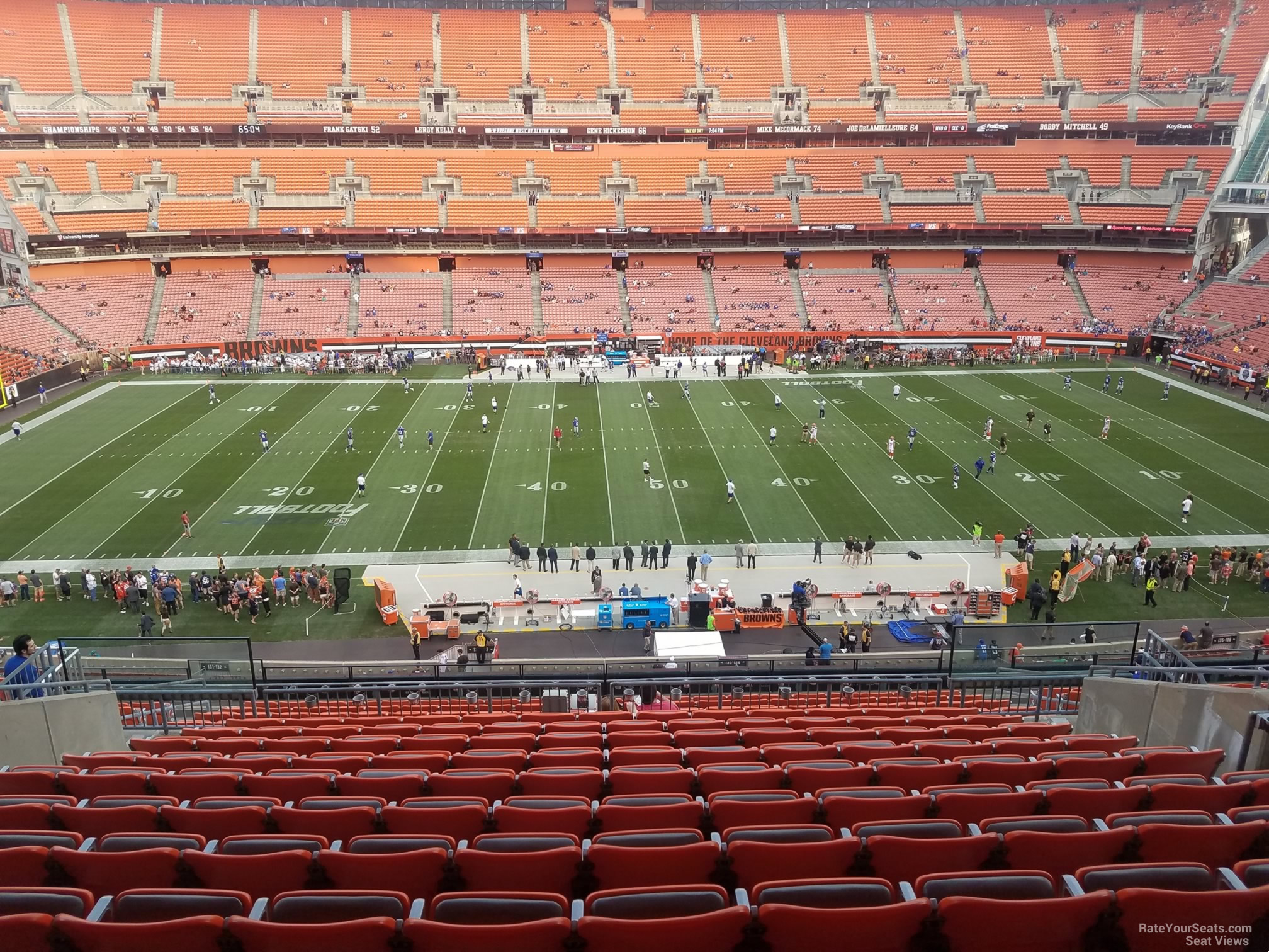 Seat View for First Energy Stadium Section 333, Row 18