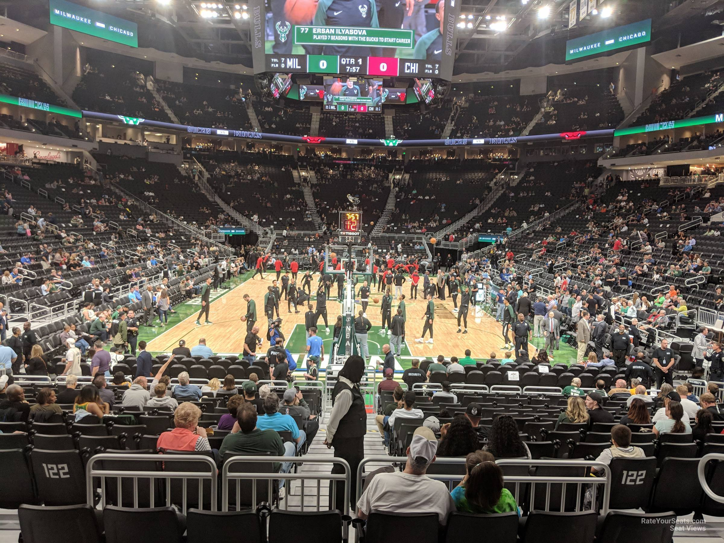 Section 101 seat view