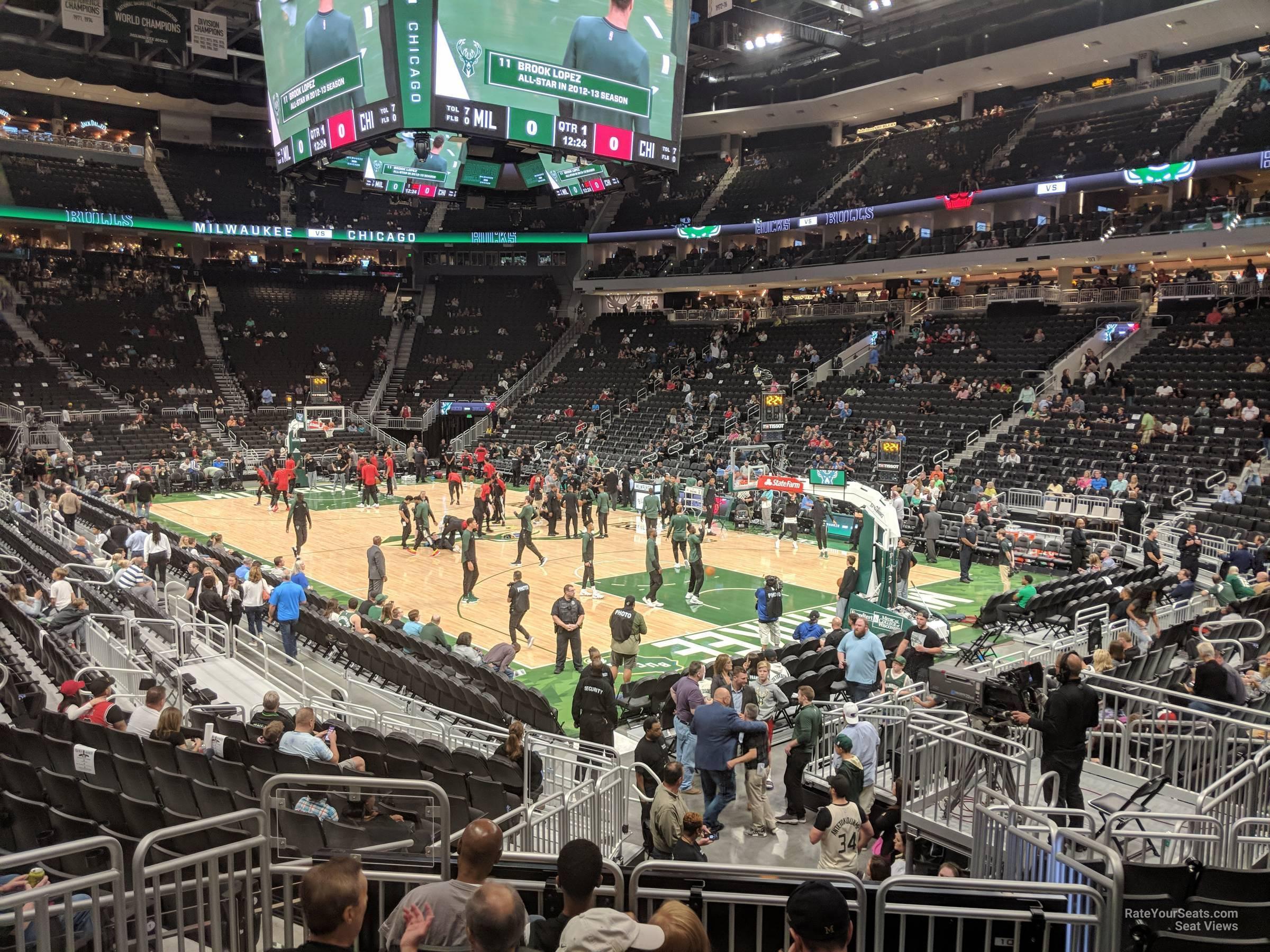 Fiserv Forum Section 103 - Milwaukee Bucks - RateYourSeats.com