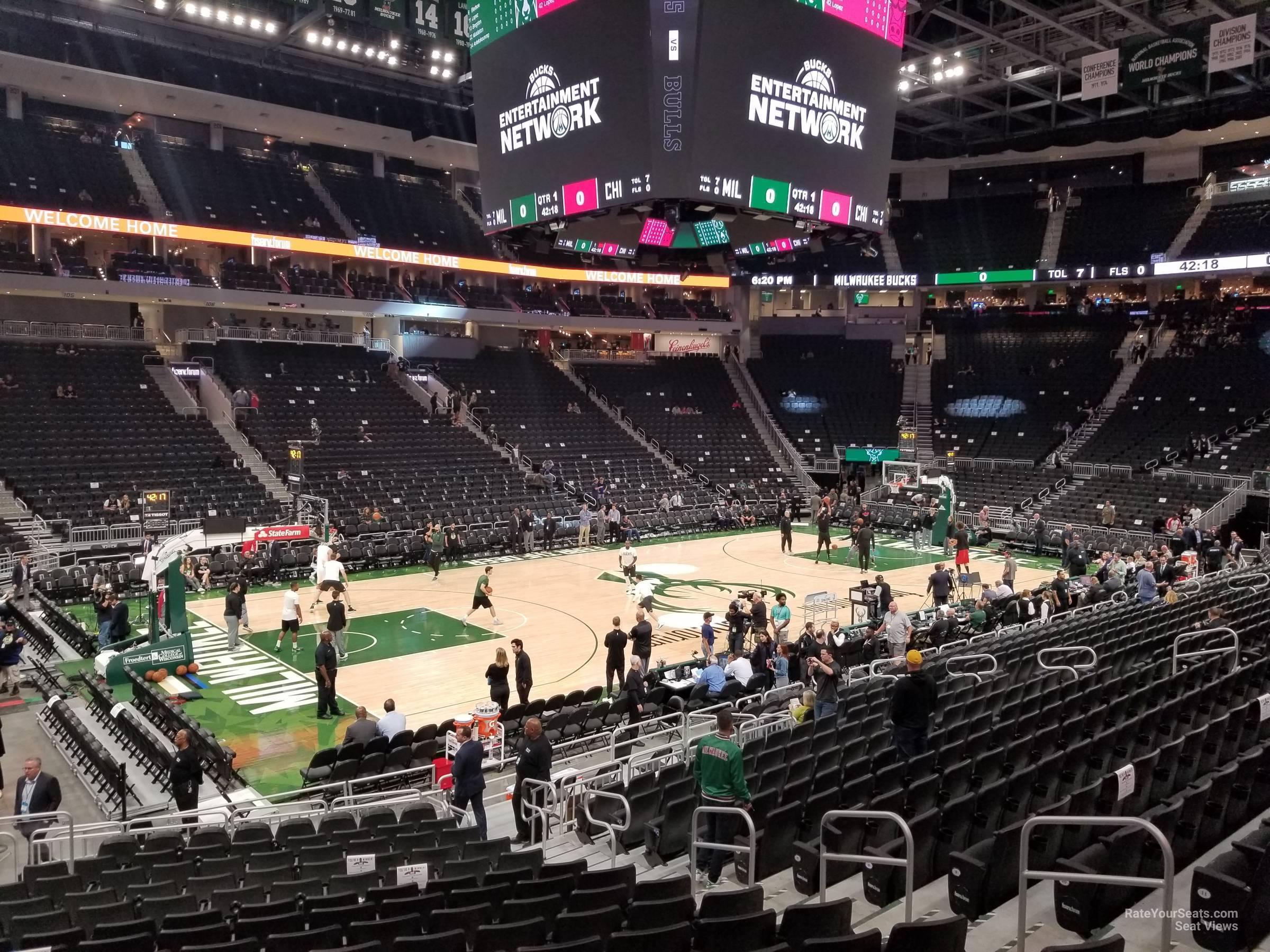 Fiserv Forum Section 119 Milwaukee Bucks Rateyourseats Com