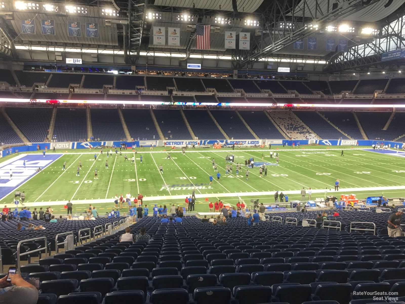 Seat View for Ford Field Section 104, Row 33