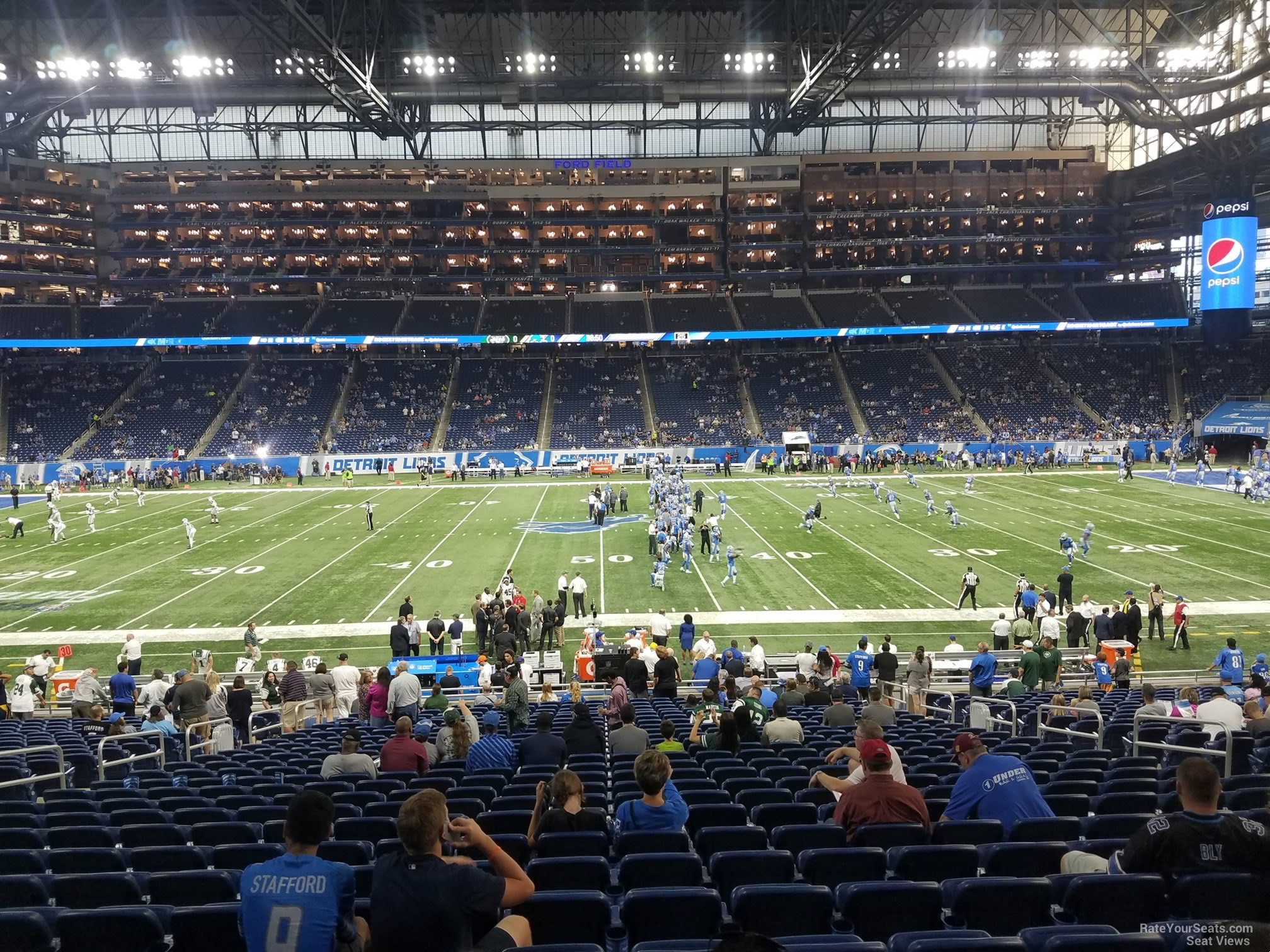 Ford Field Section 127 Detroit Lions Rateyourseats Com