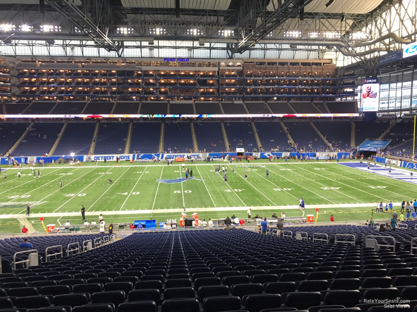 Ford Field Section 127 Detroit Lions Rateyourseatscom