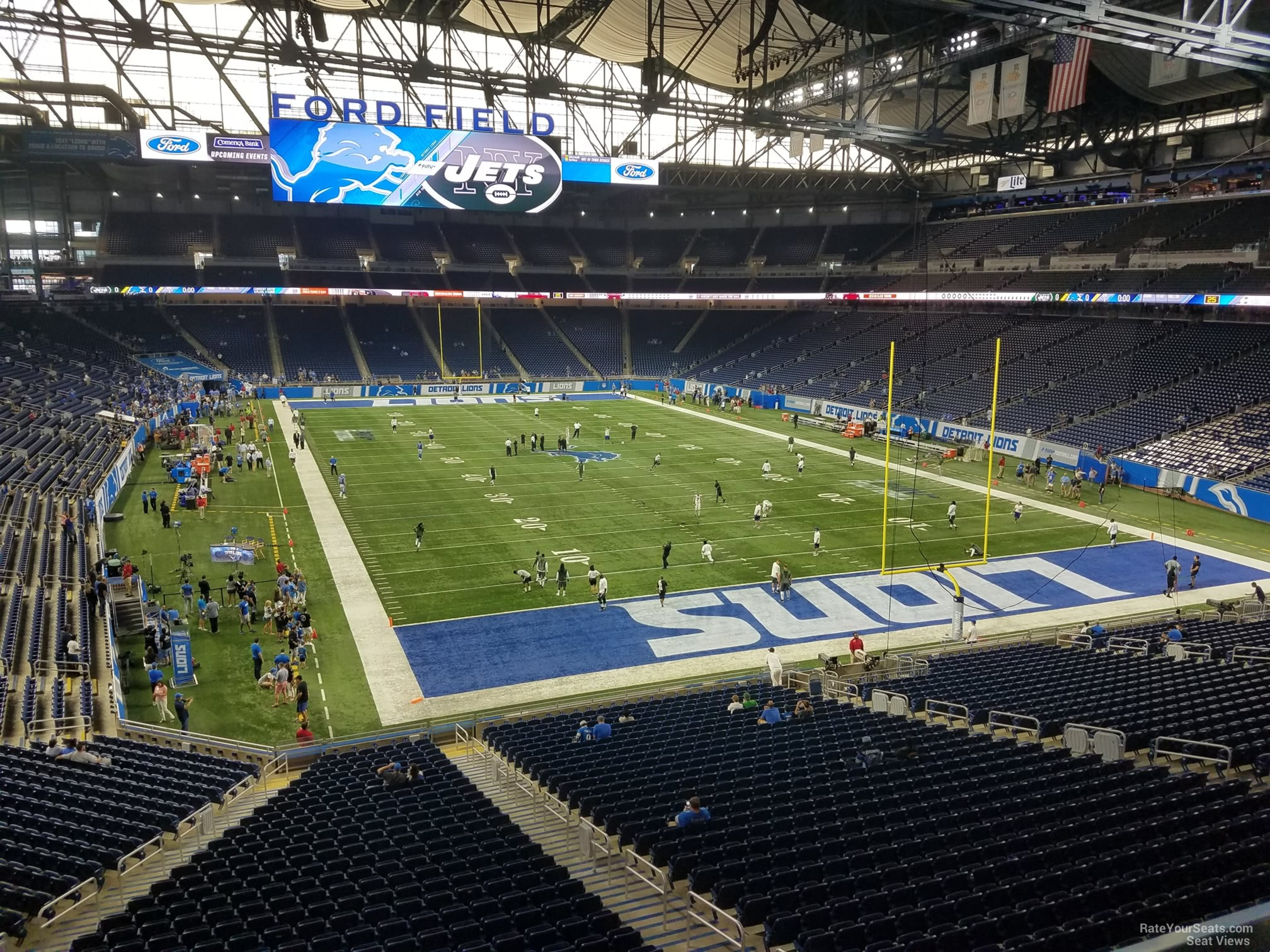 Seat View for Ford Field Section 216, Row 1
