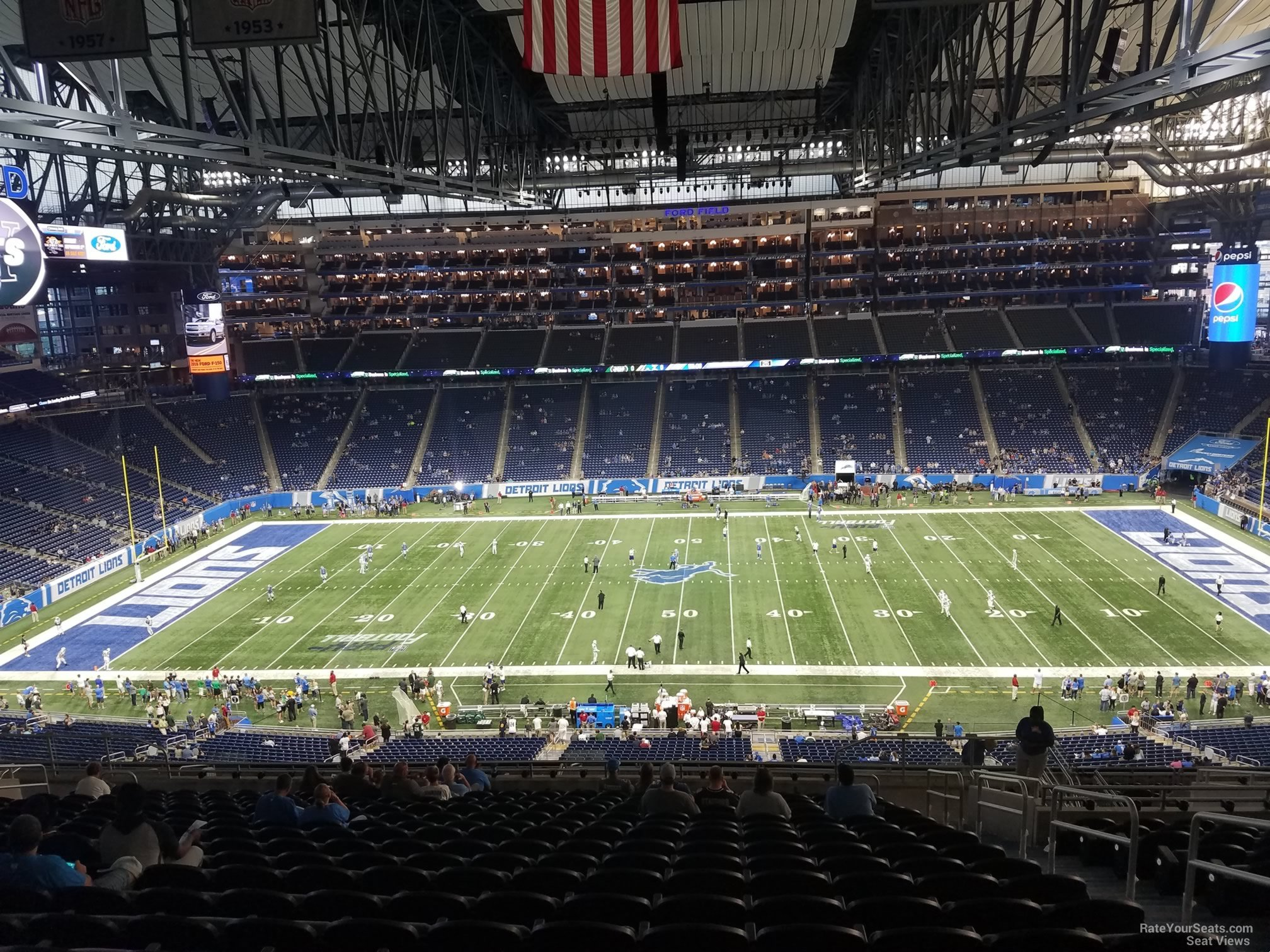 Ford Field Section 331 Detroit Lions Rateyourseats Com