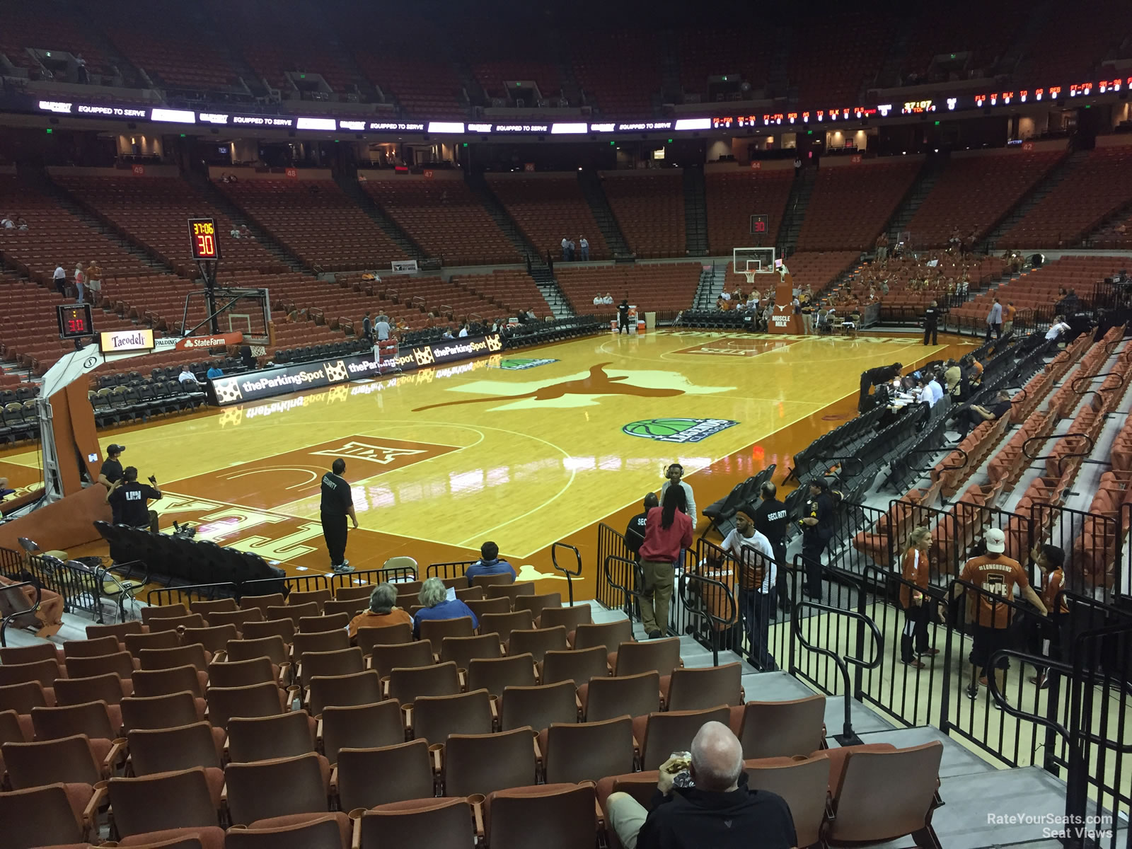 Seat View for Frank Erwin Center Section 31, Row 17