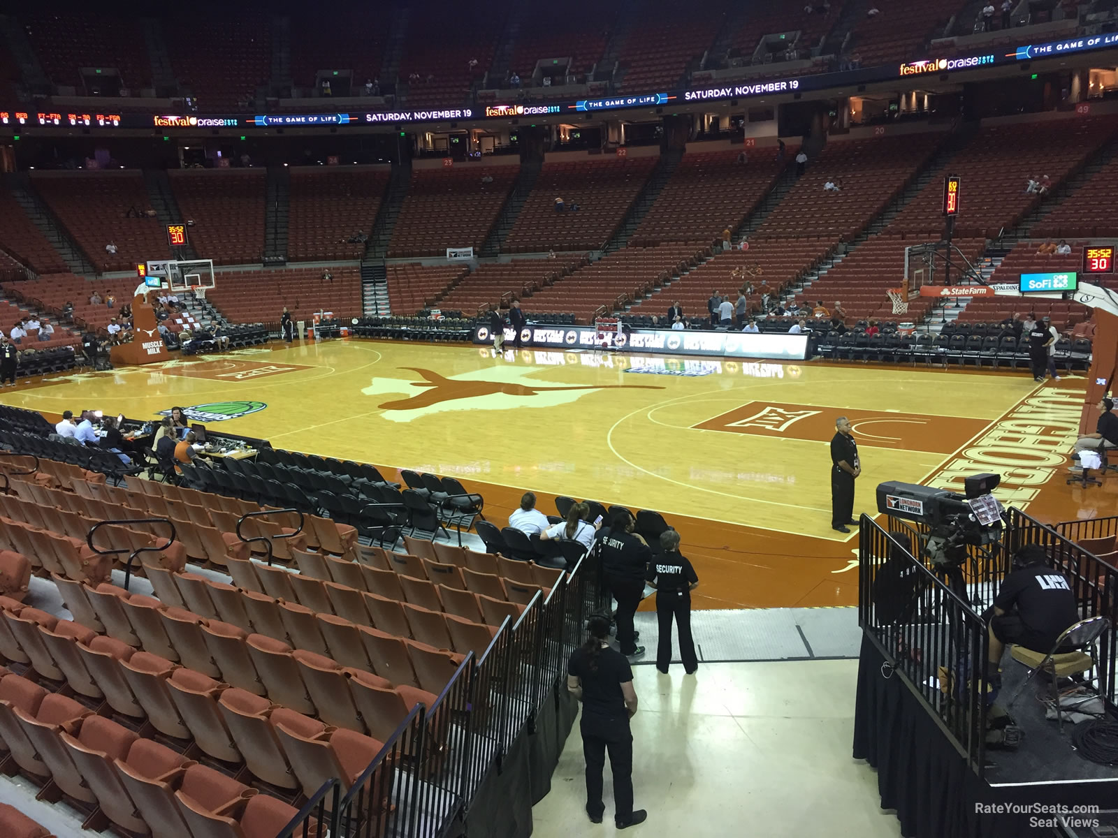 Seat View for Frank Erwin Center Section 38, Row 17