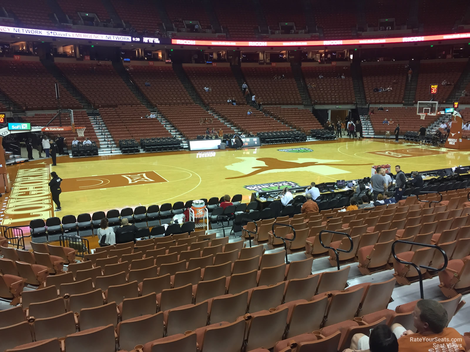 Seat View for Frank Erwin Center Section 48, Row 17