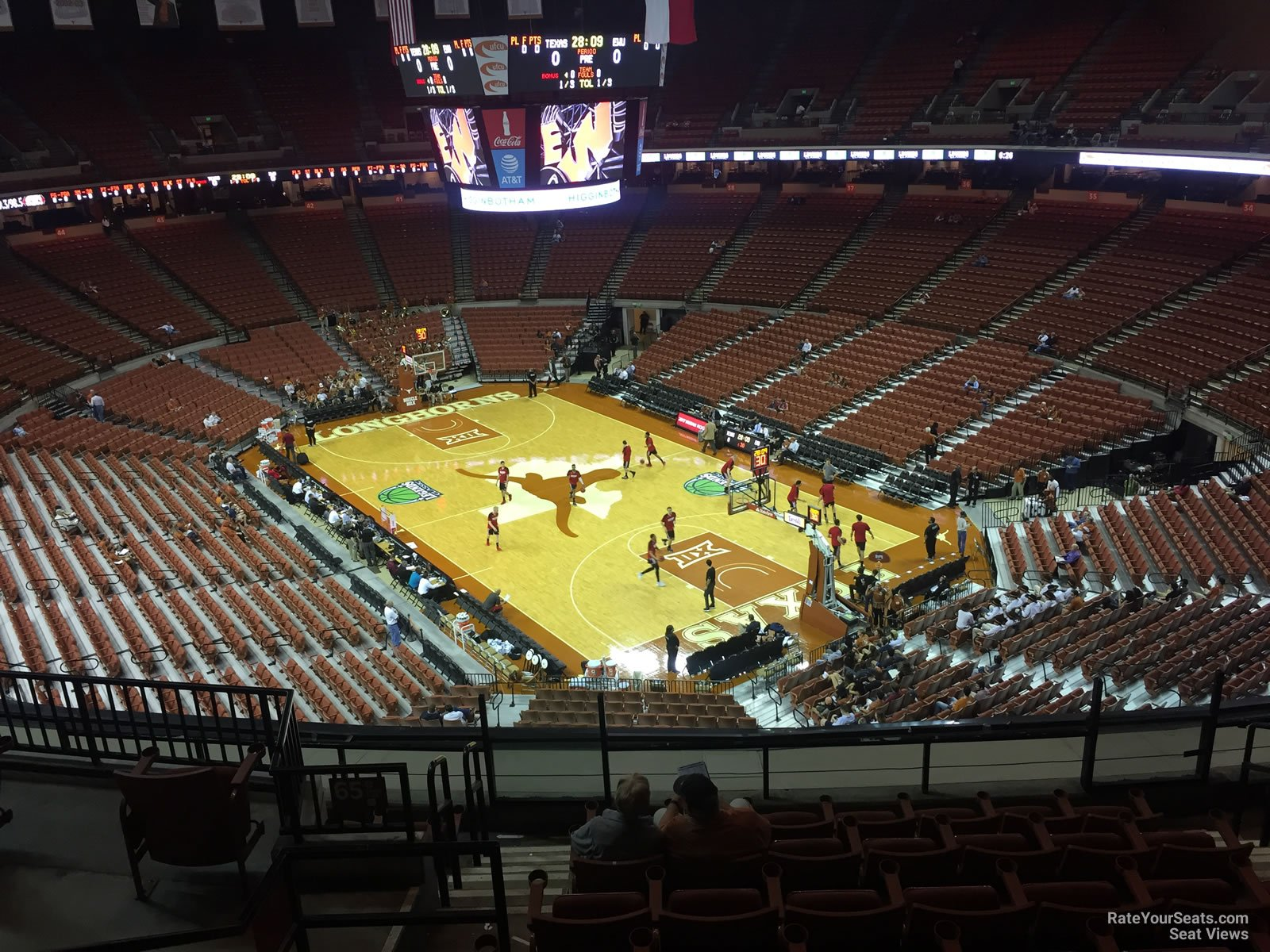 Seat View for Frank Erwin Center Section 66, Row 8
