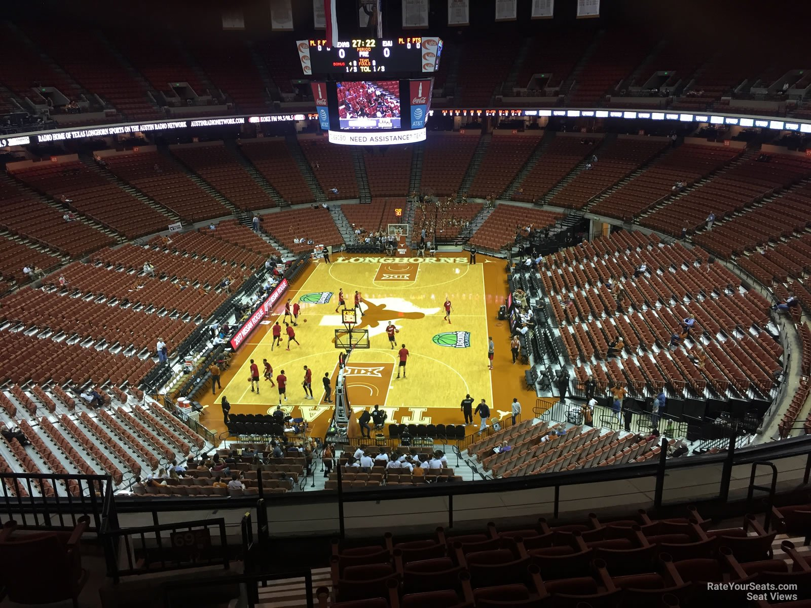 Seat View for Frank Erwin Center Section 70, Row 8