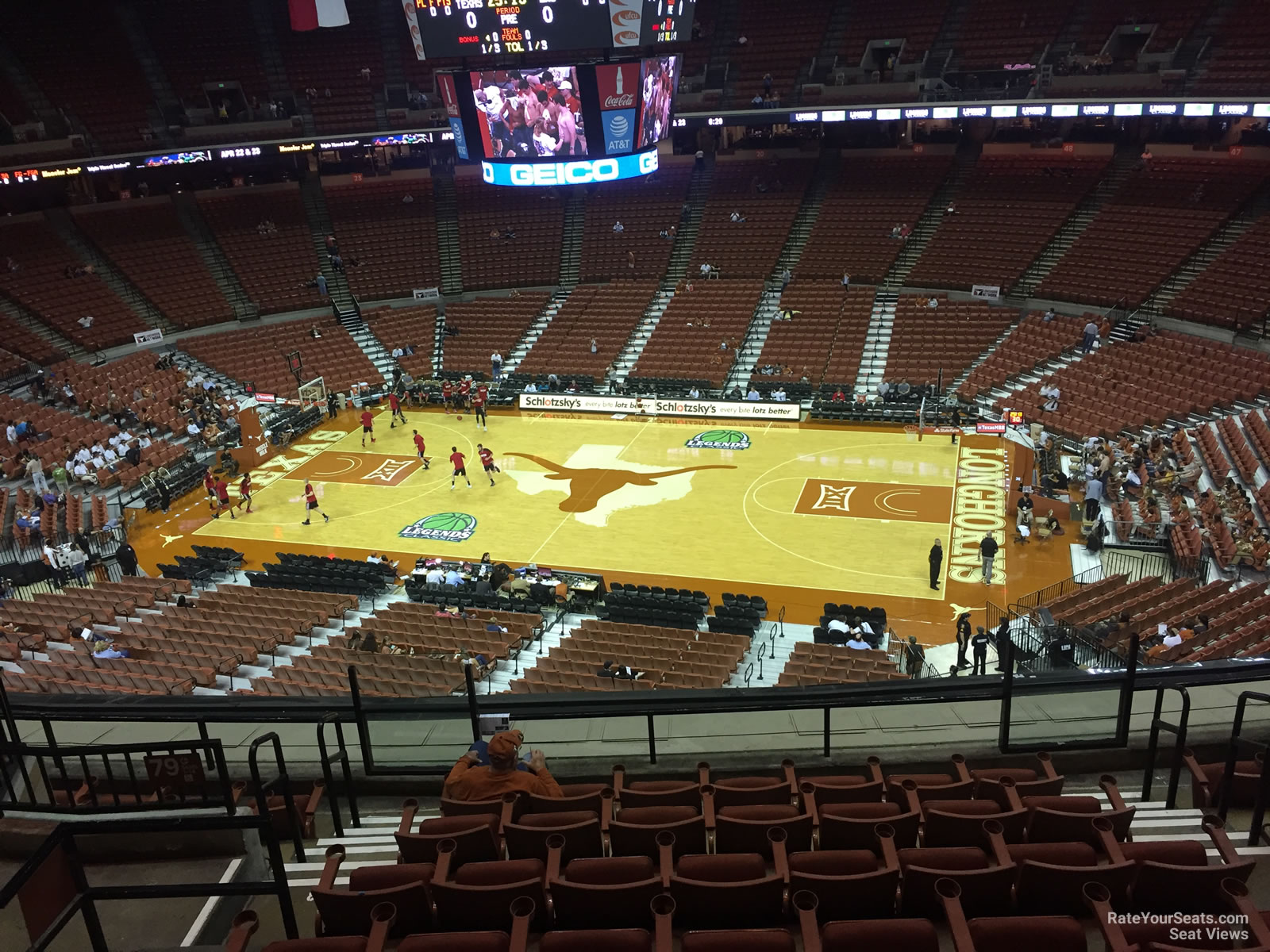 Frank Erwin Center Austin Tx Events Seat View for Frank Erwin Center Section 80