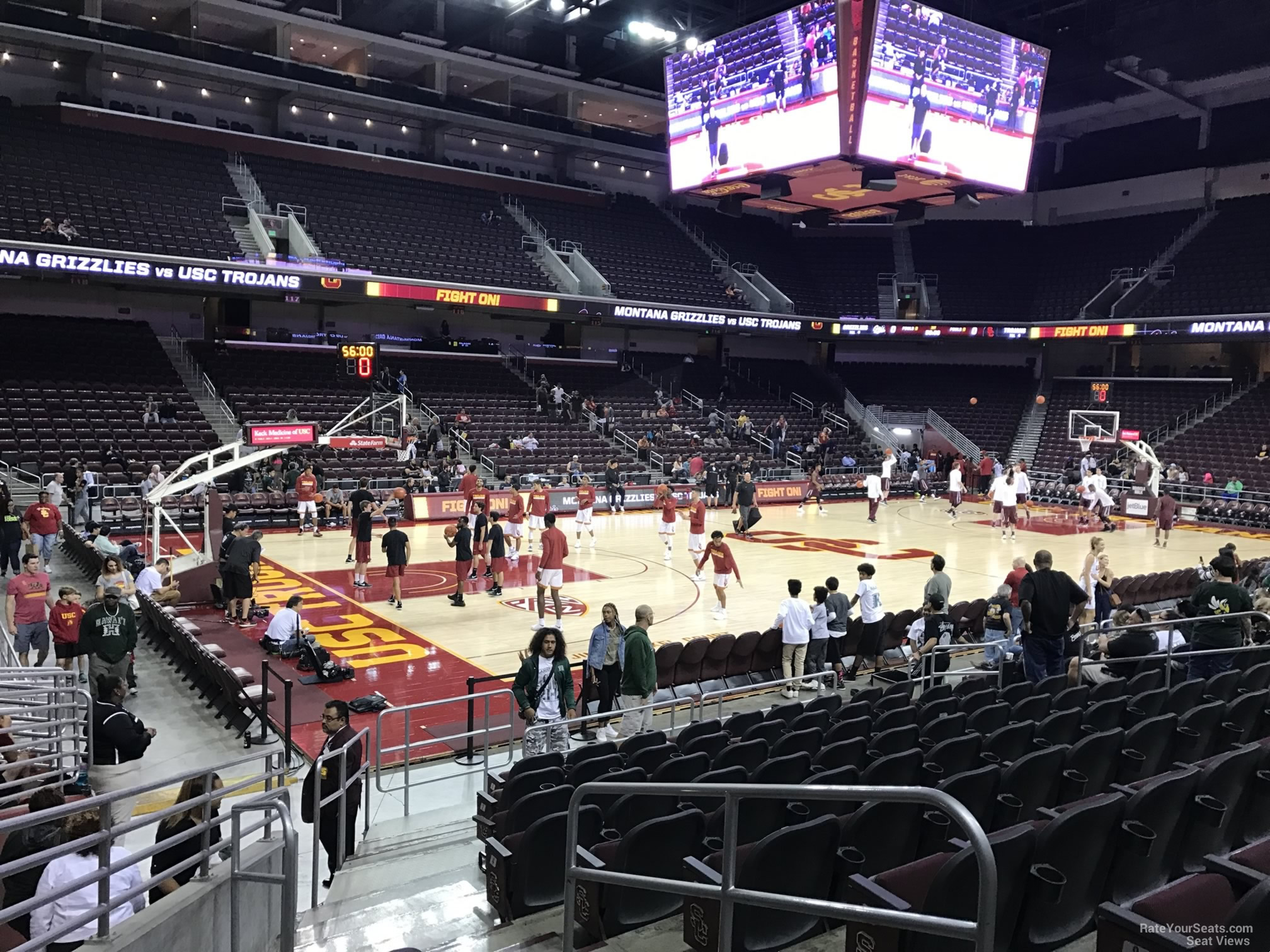 Seat View for Galen Center Section 101, Row 10