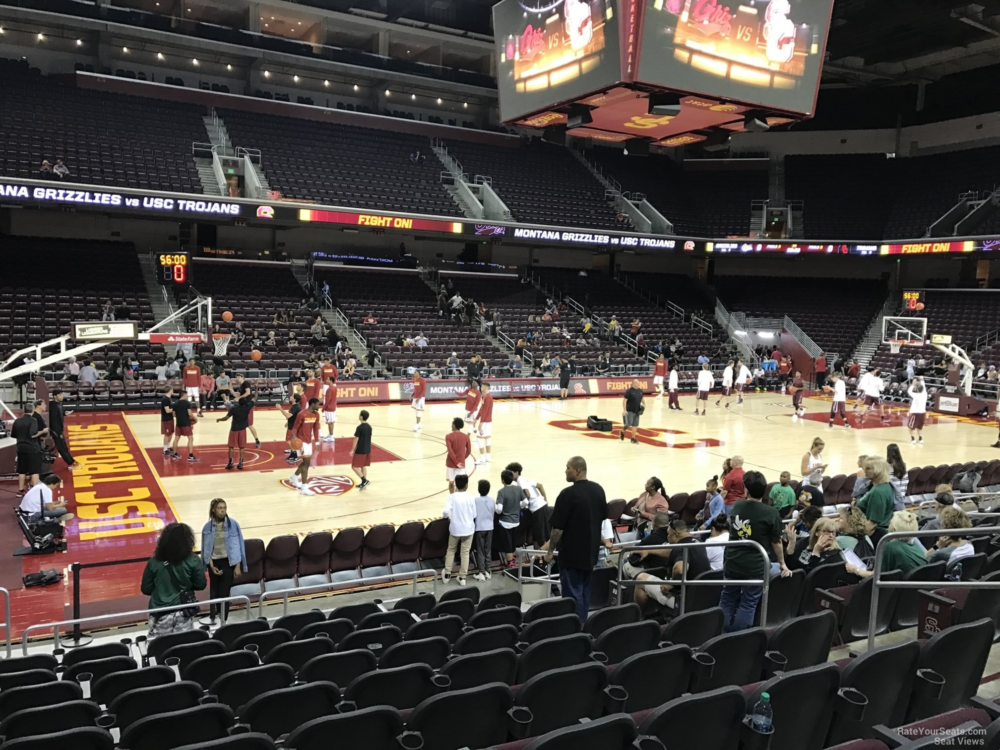Seat View for Galen Center Section 102, Row 10