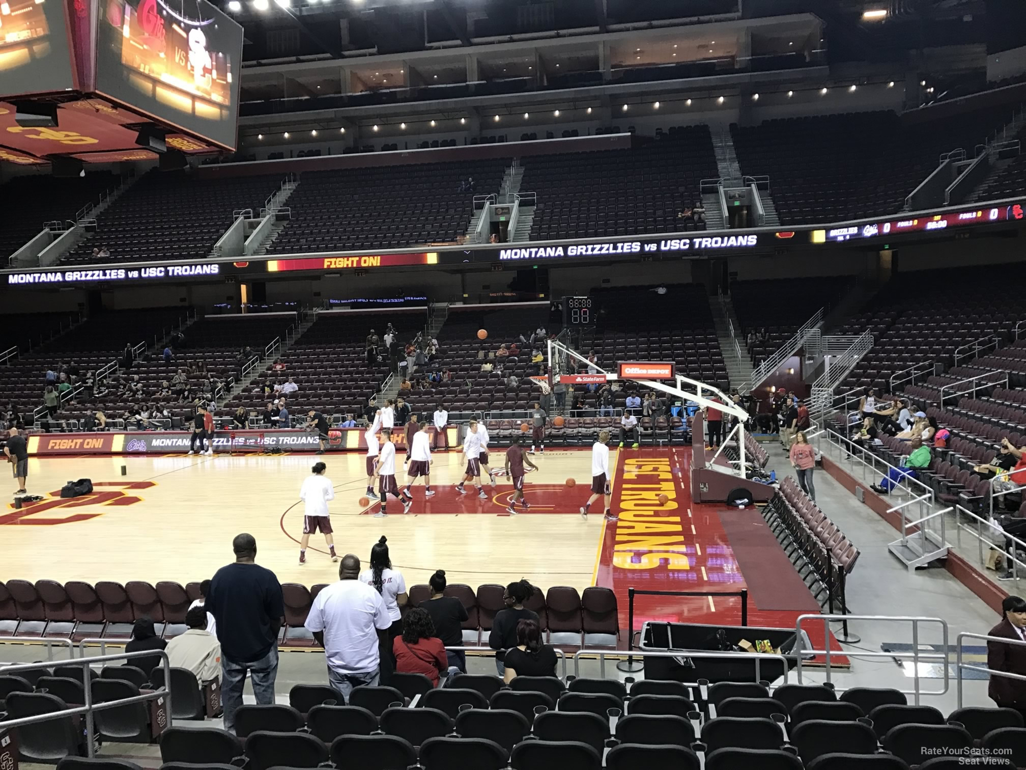 Seat View for Galen Center Section 106 Row 10