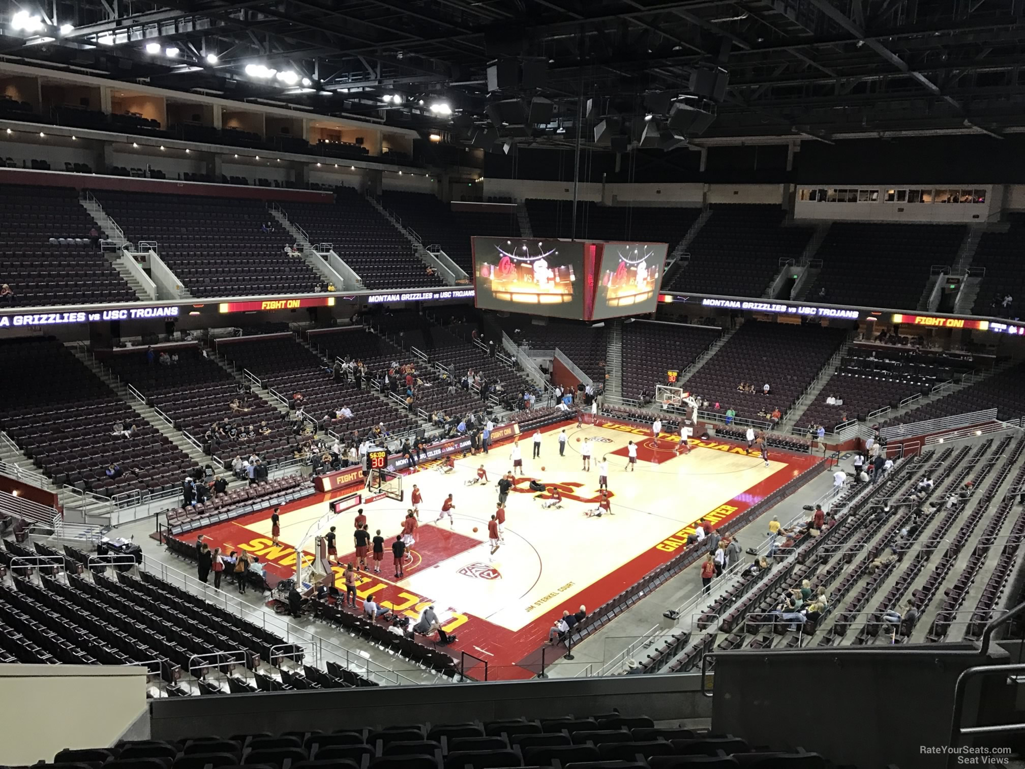 Seat View For Galen Center Section 201 Row 10