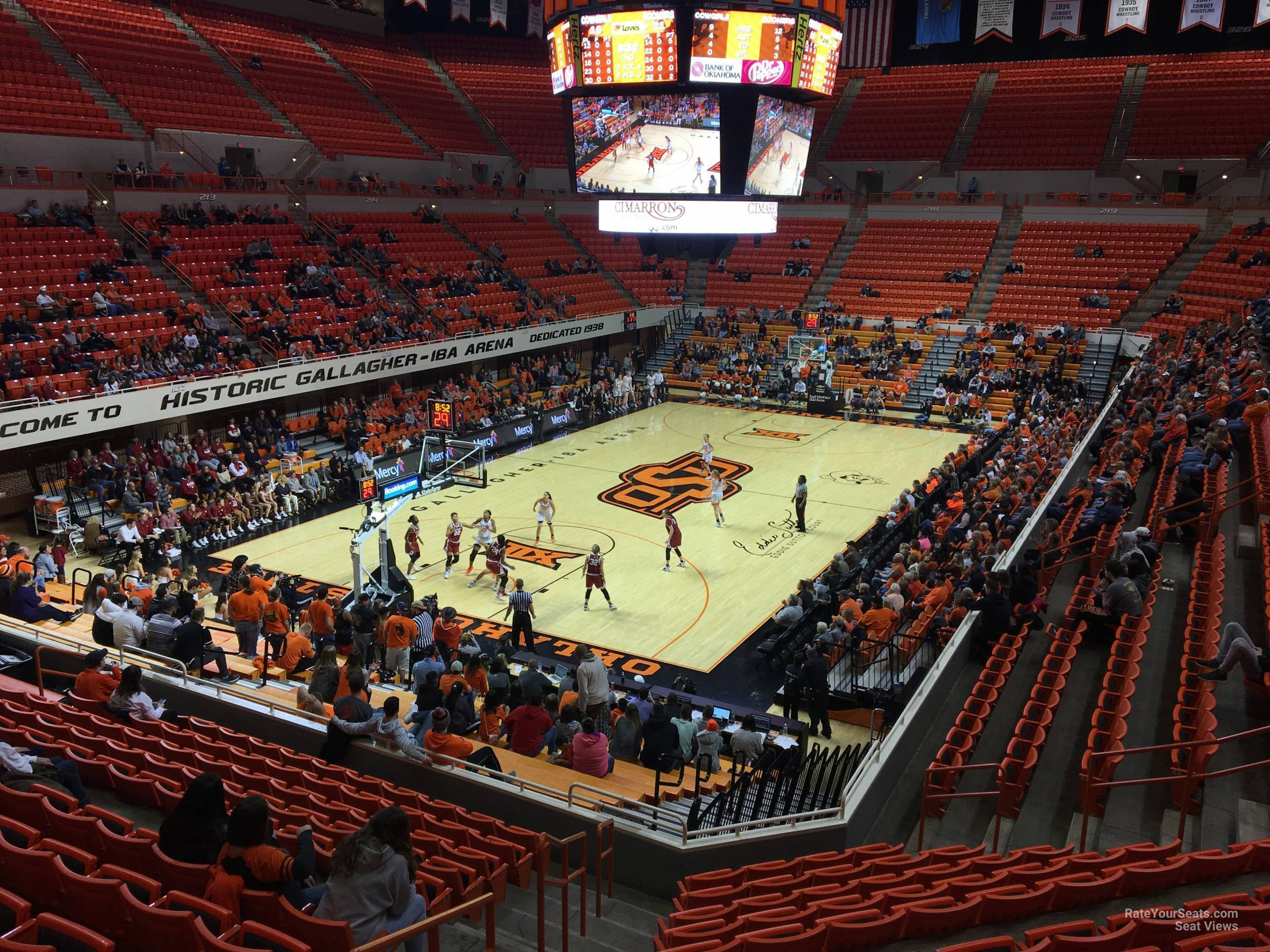 Seat View for Gallagher-Iba Arena Section 206, Row 13