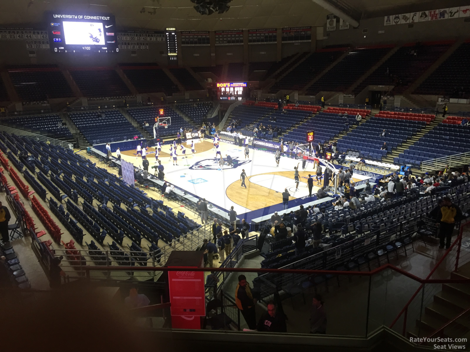 Seat View for Gampel Pavilion  Section 1, Row 9