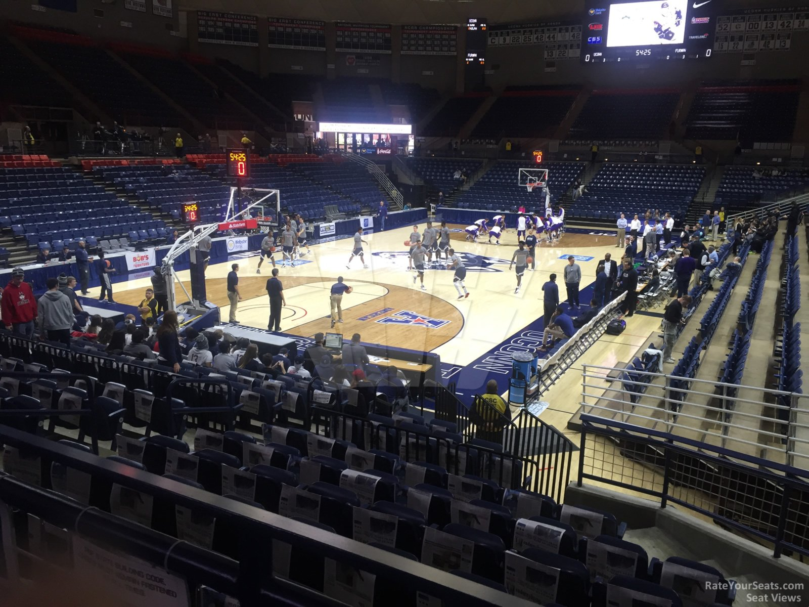 Seat View for Gampel Pavilion  Section 101
