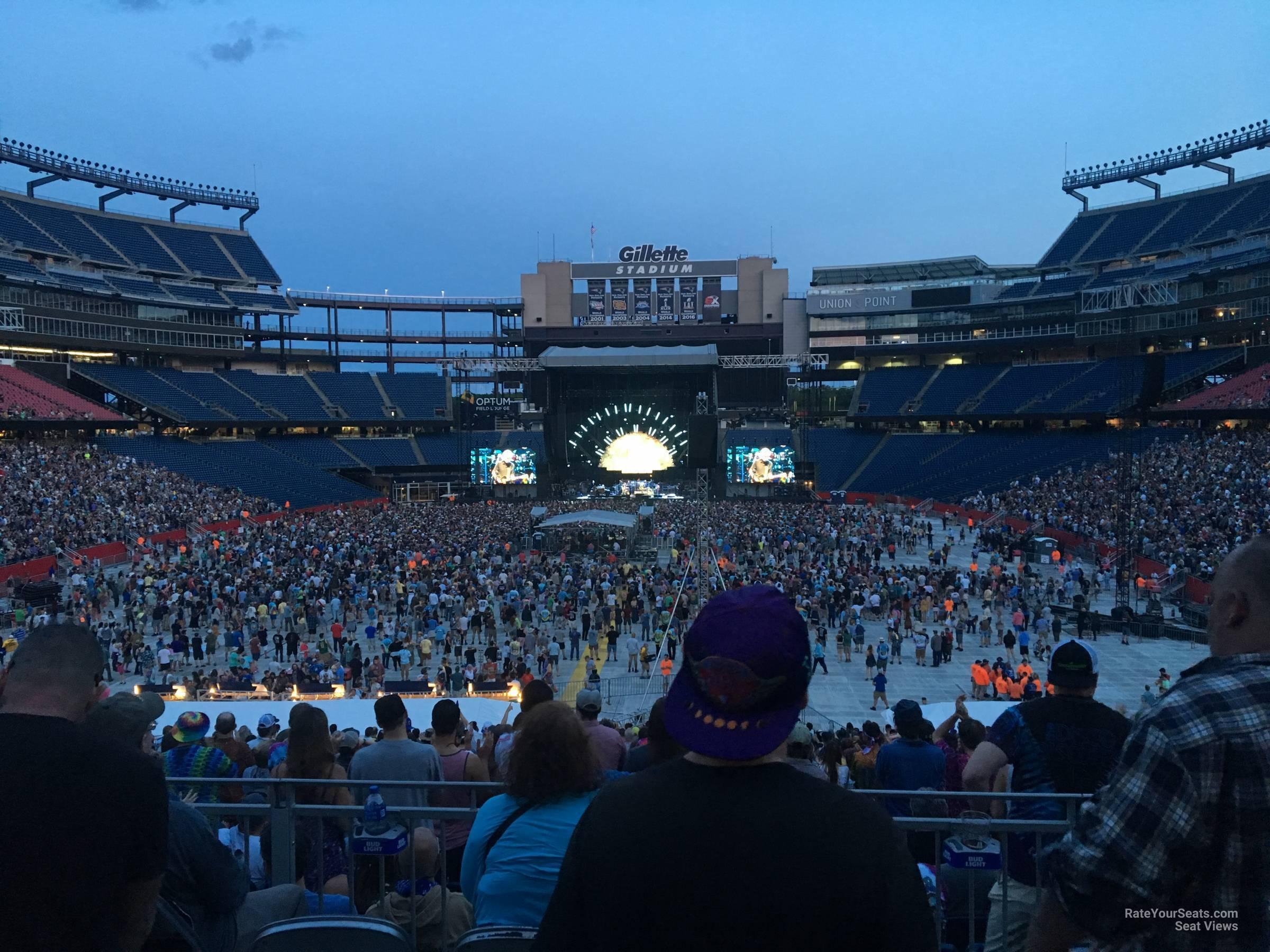 Gillette Stadium Concert Seating Guide - RateYourSeats com