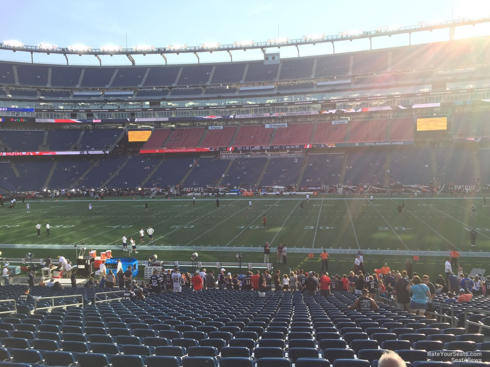 New England Patriots Seat View for Gillette Stadium Section 108, Row 29