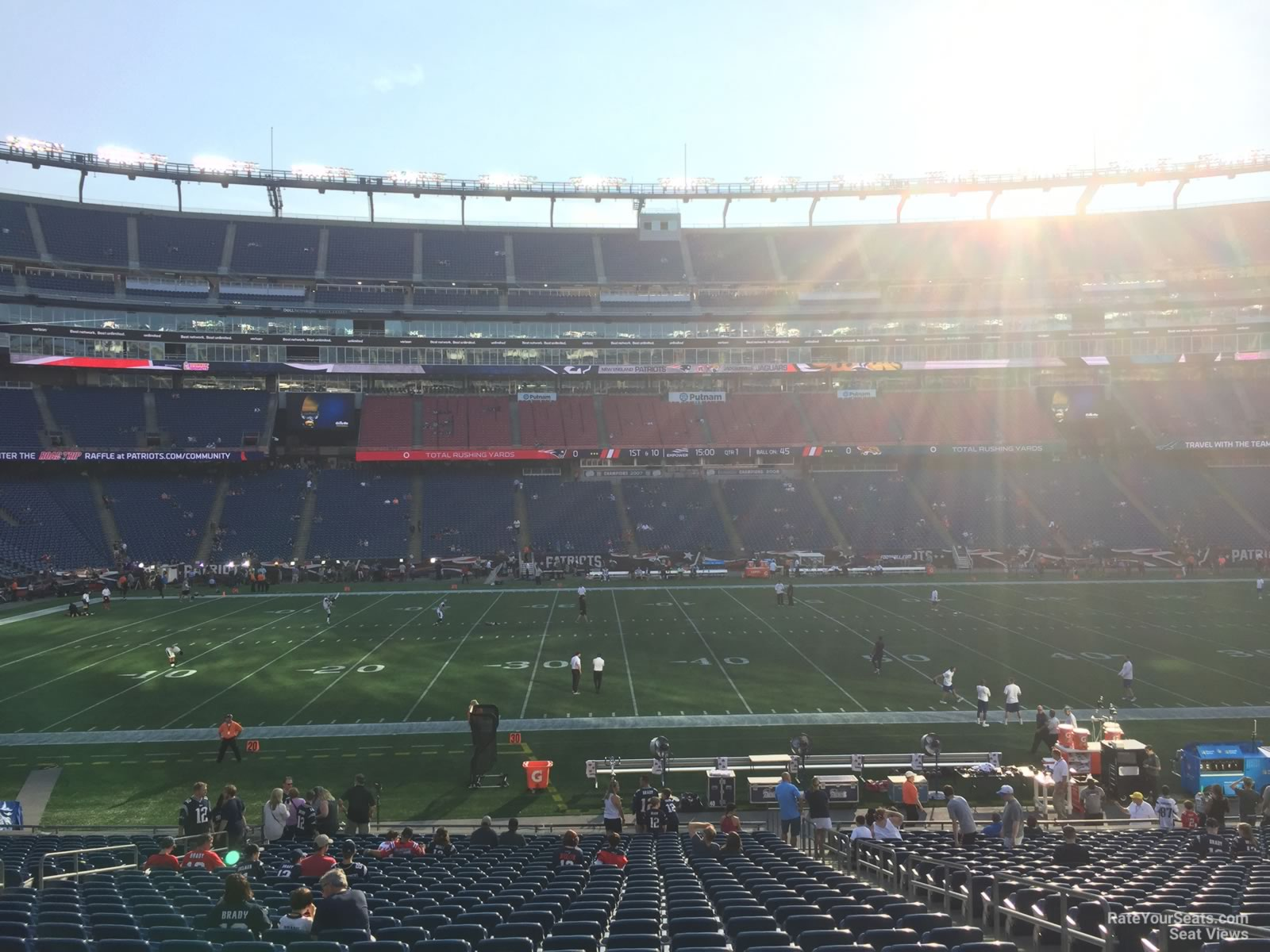 New England Patriots Seat View for Gillette Stadium Section 111, Row 29