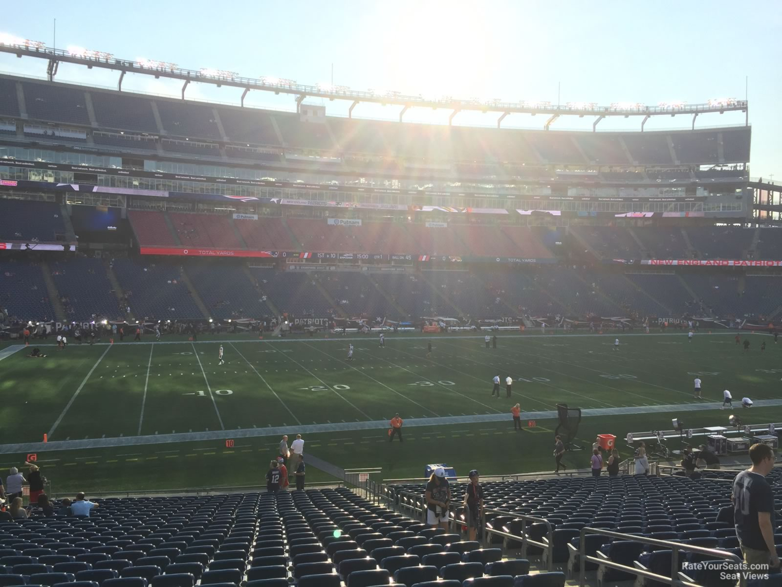 New England Patriots Seat View for Gillette Stadium Section 113, Row 29
