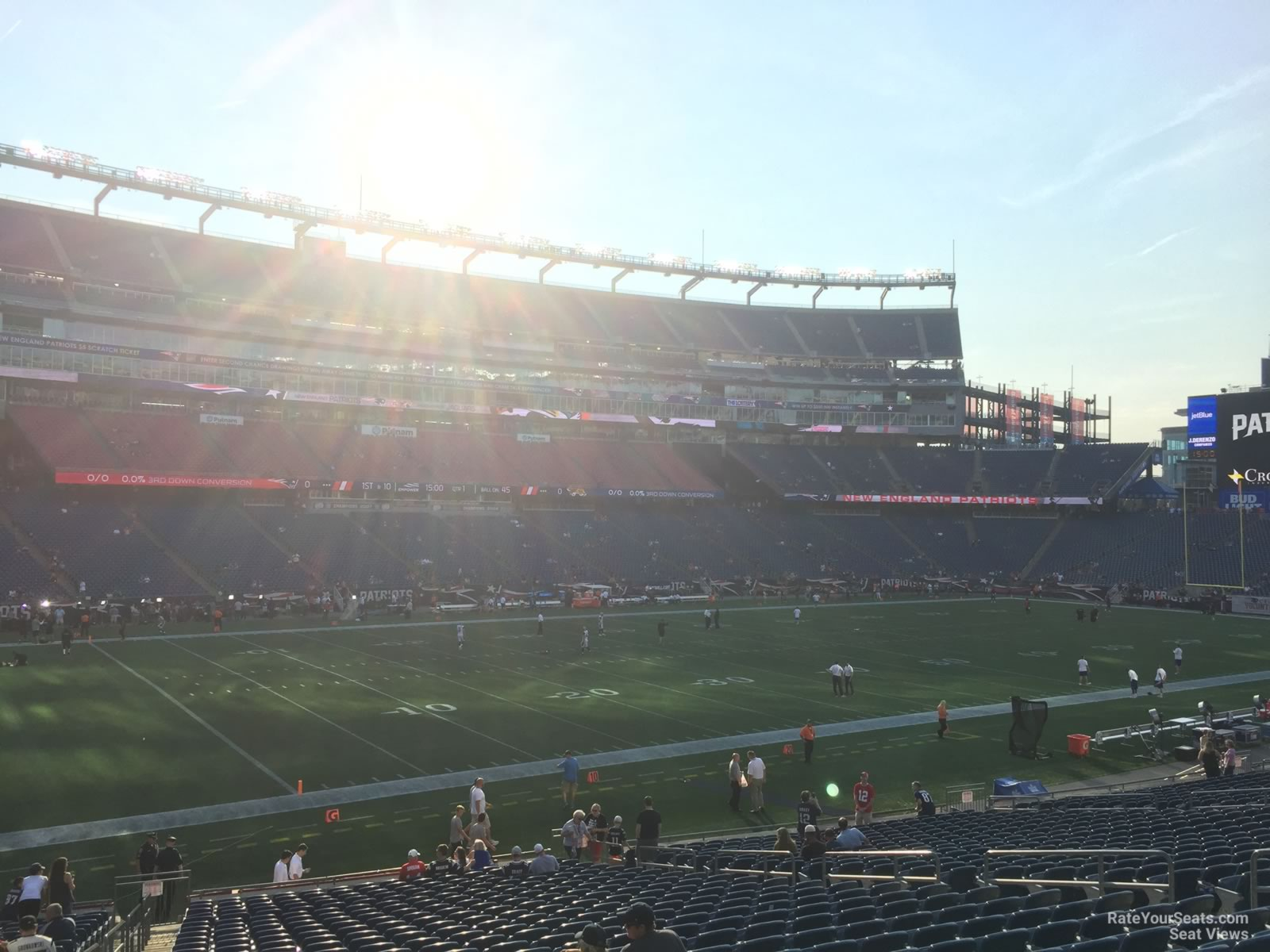 New England Patriots Seat View for Gillette Stadium Section 114, Row 29