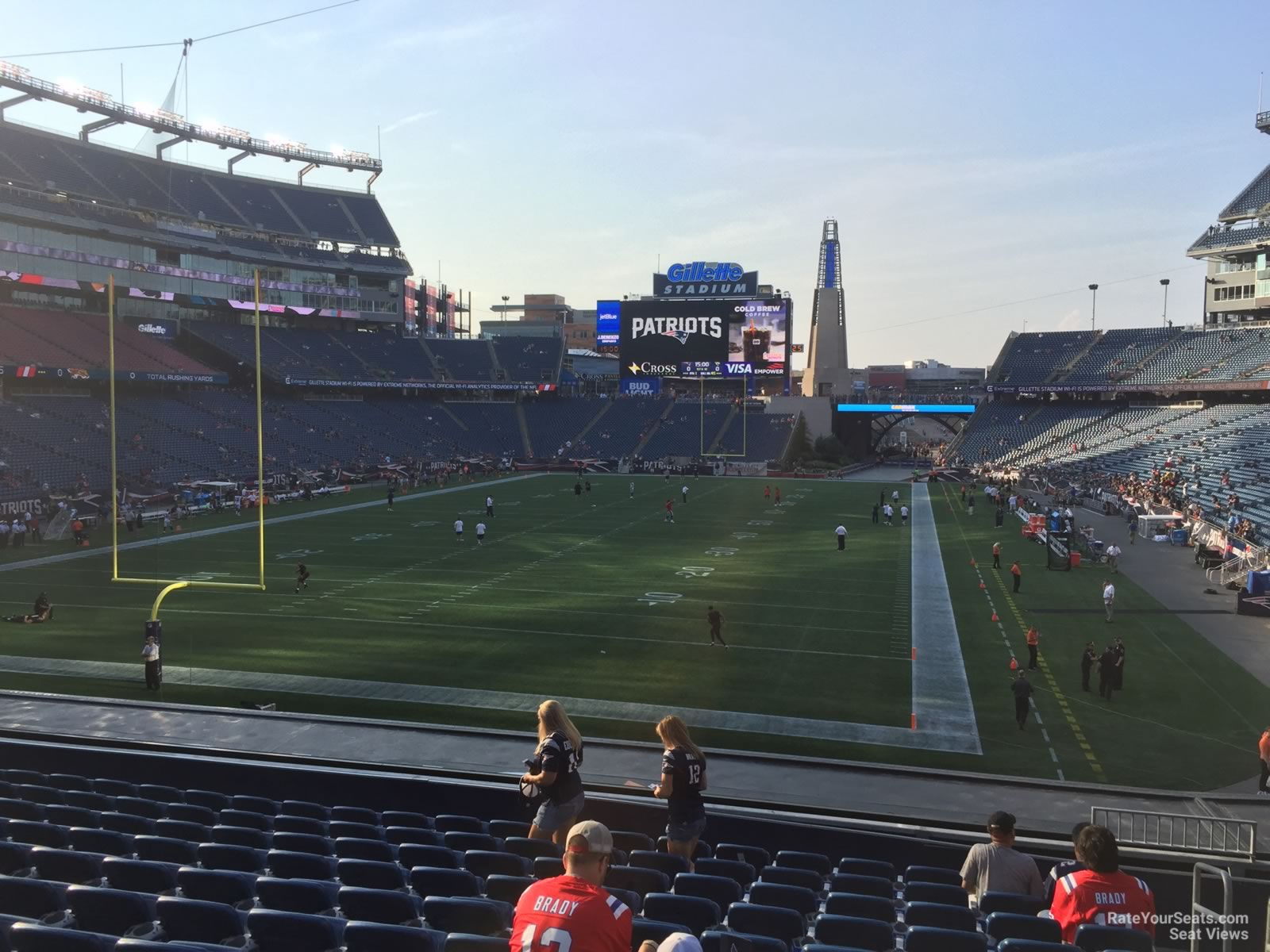 New England Patriots Seat View for Gillette Stadium Section 119, Row 29