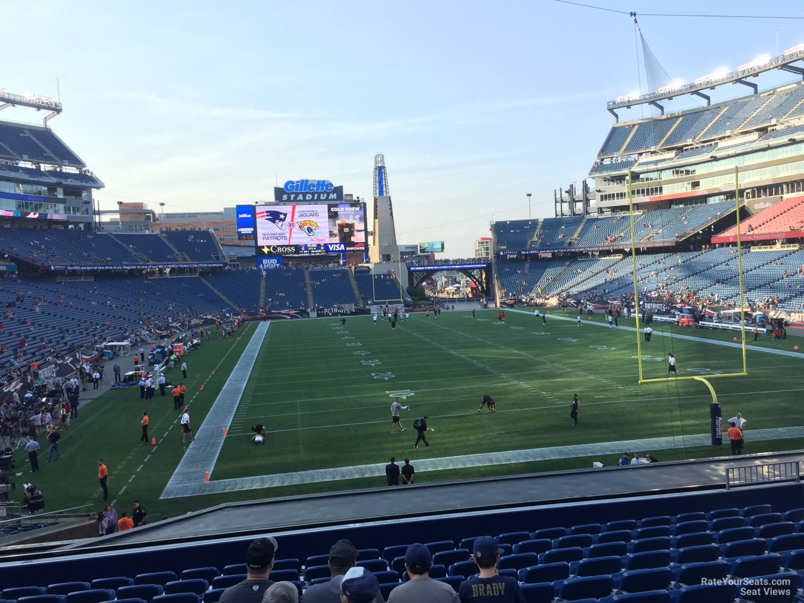 New England Patriots Seat View for Gillette Stadium Section 122, Row 29