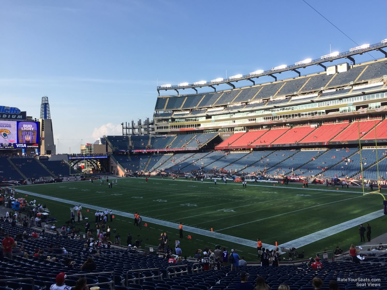 New England Patriots Seat View for Gillette Stadium Section 125, Row 29