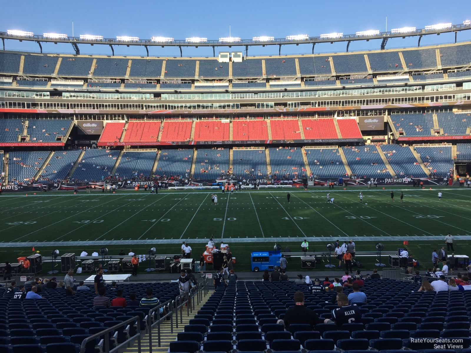 New England Patriots Seat View for Gillette Stadium Section 131, Row 29