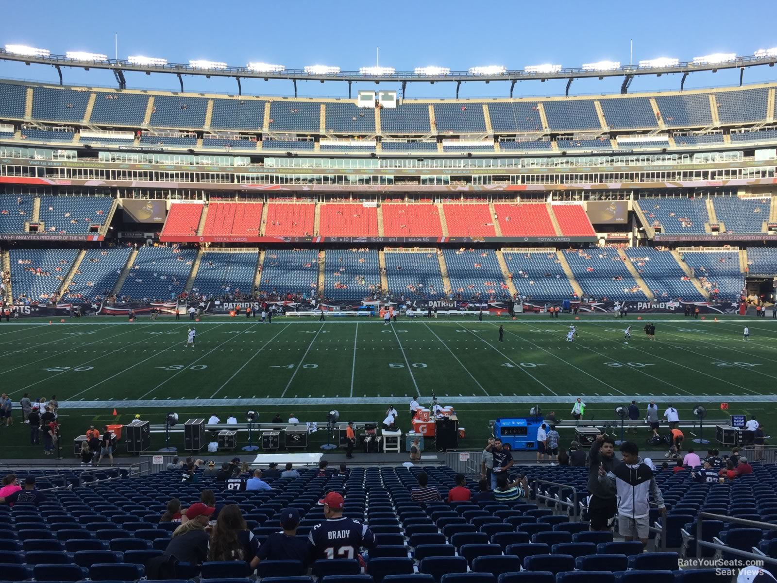 New England Patriots Seat View for Gillette Stadium Section 132, Row 29