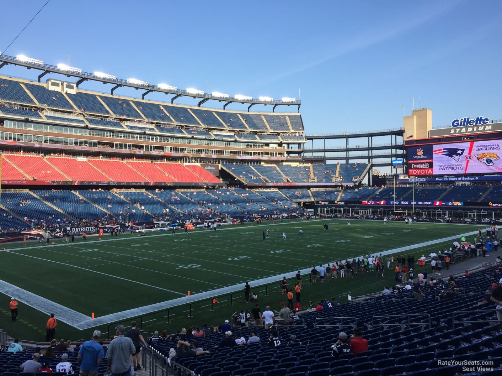 New England Patriots Seat View for Gillette Stadium Section 138, Row 29