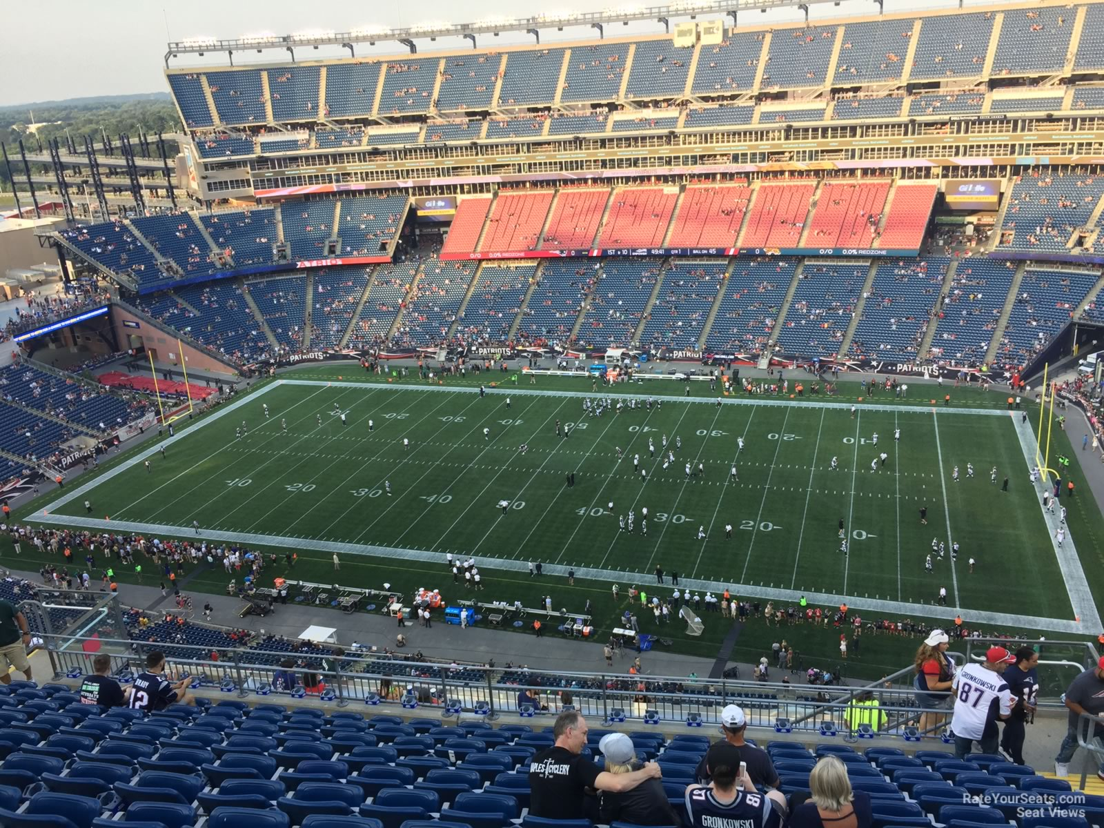 New England Patriots Seat View for Gillette Stadium Section 329, Row 19