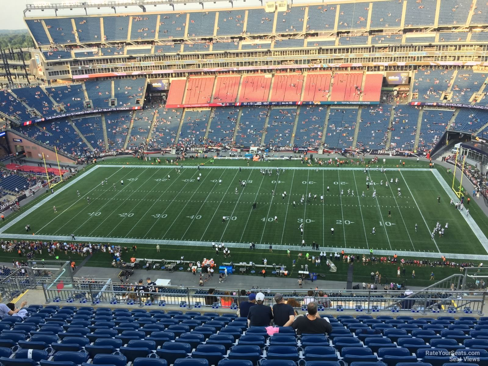 New England Patriots Seat View for Gillette Stadium Section 330, Row 19