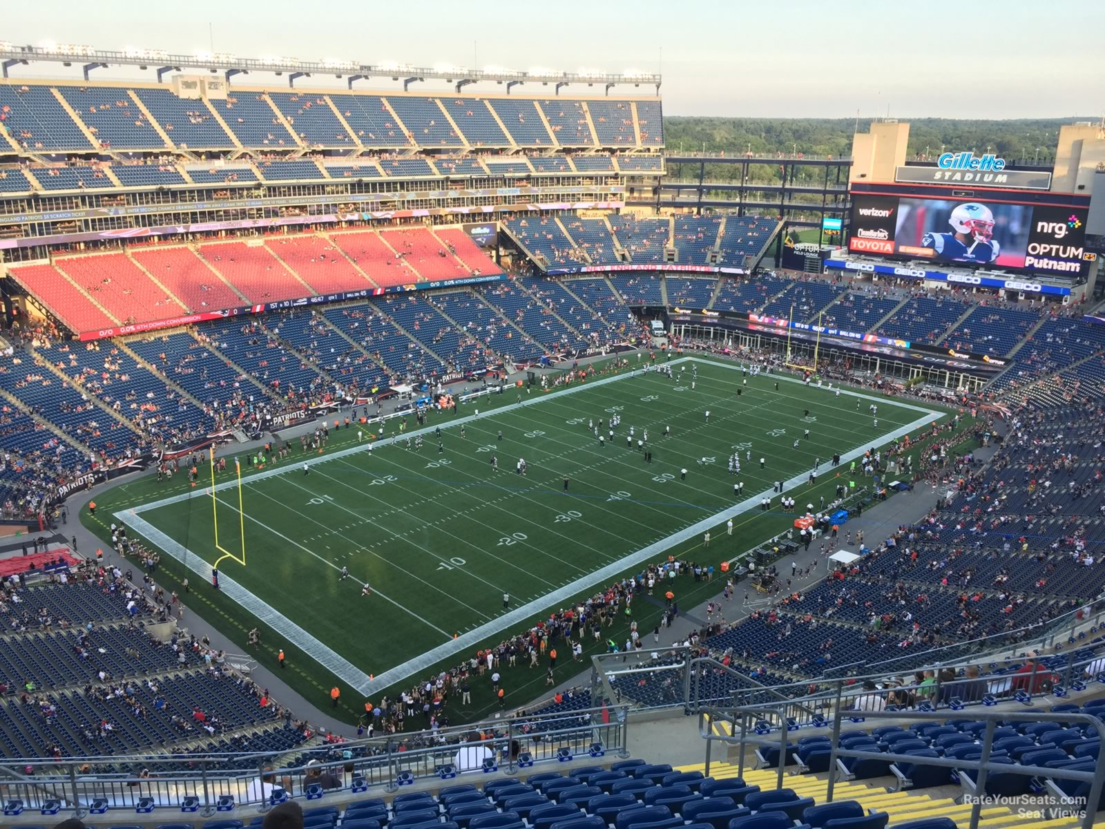 New England Patriots Seat View for Gillette Stadium Section 339, Row 19