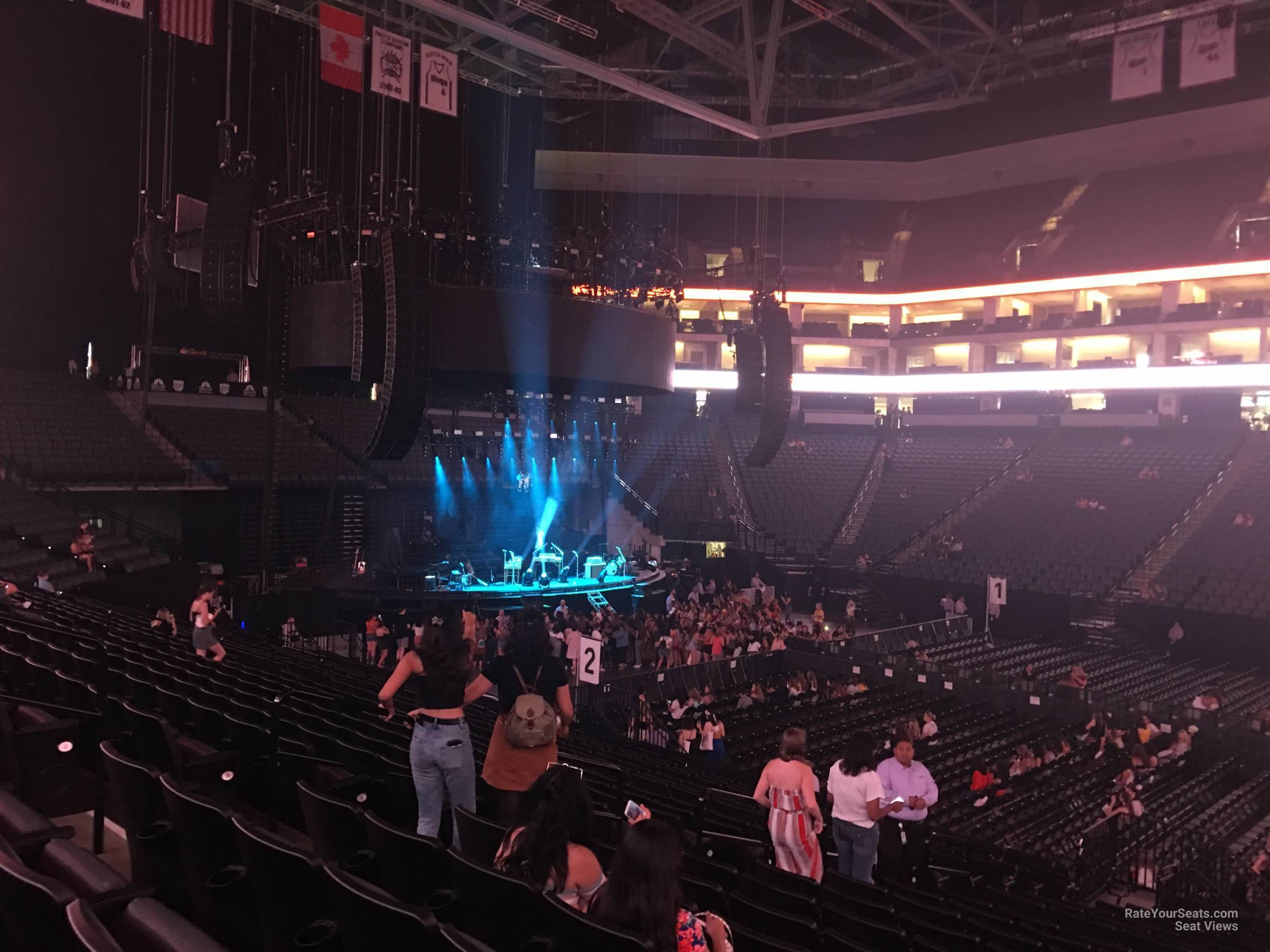 Concert Seat View for Golden 1 Center Section 119, Row M