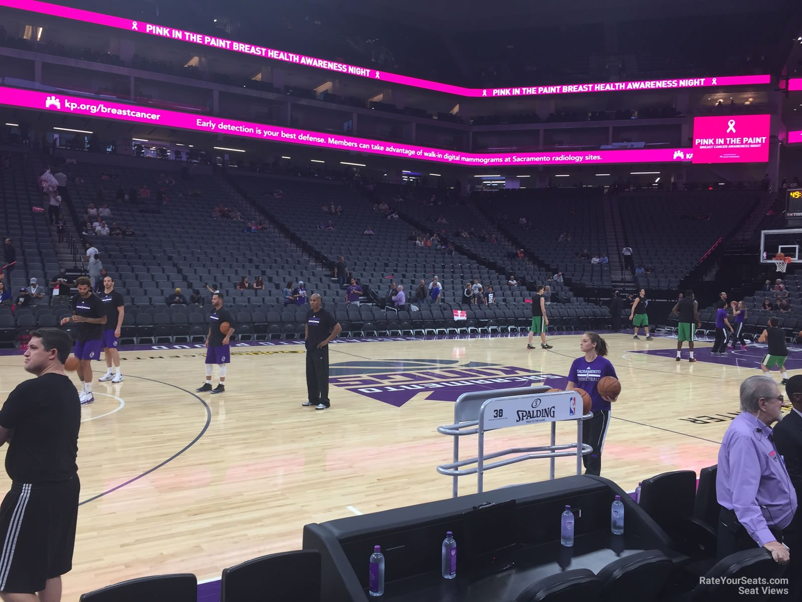 Courtside 3 seat view