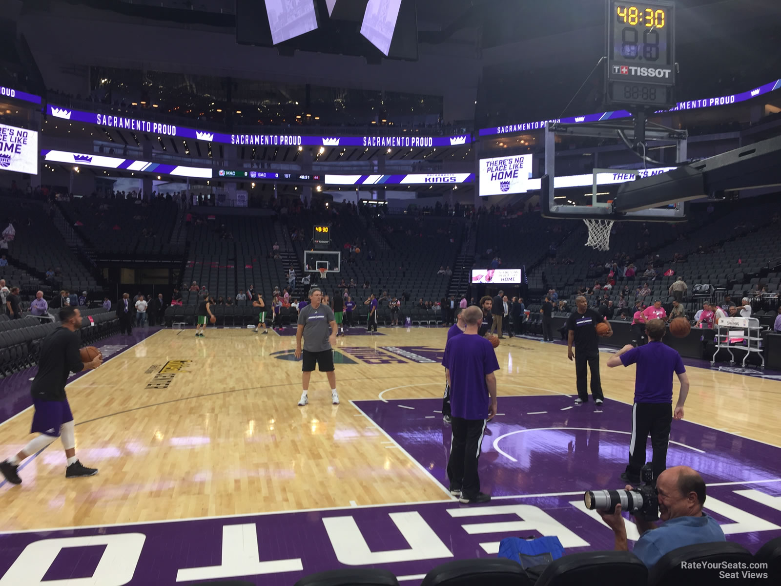 Courtside 5 seat view