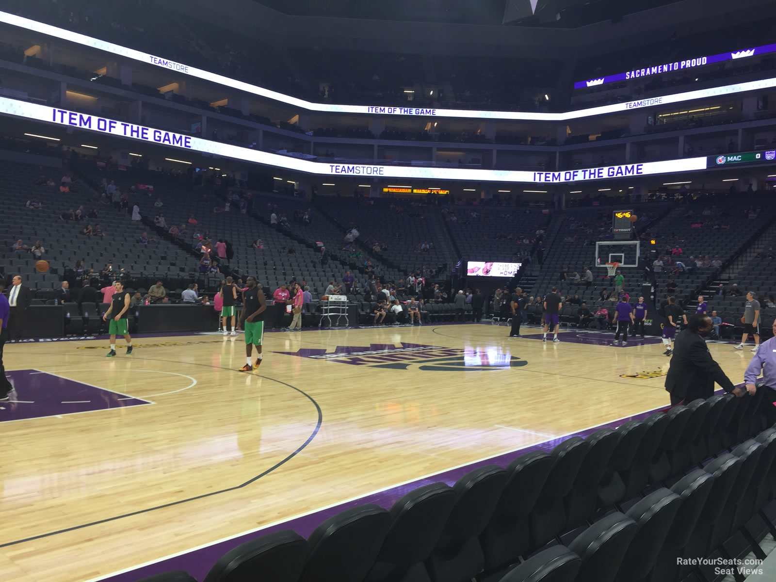 Courtside 8 seat view