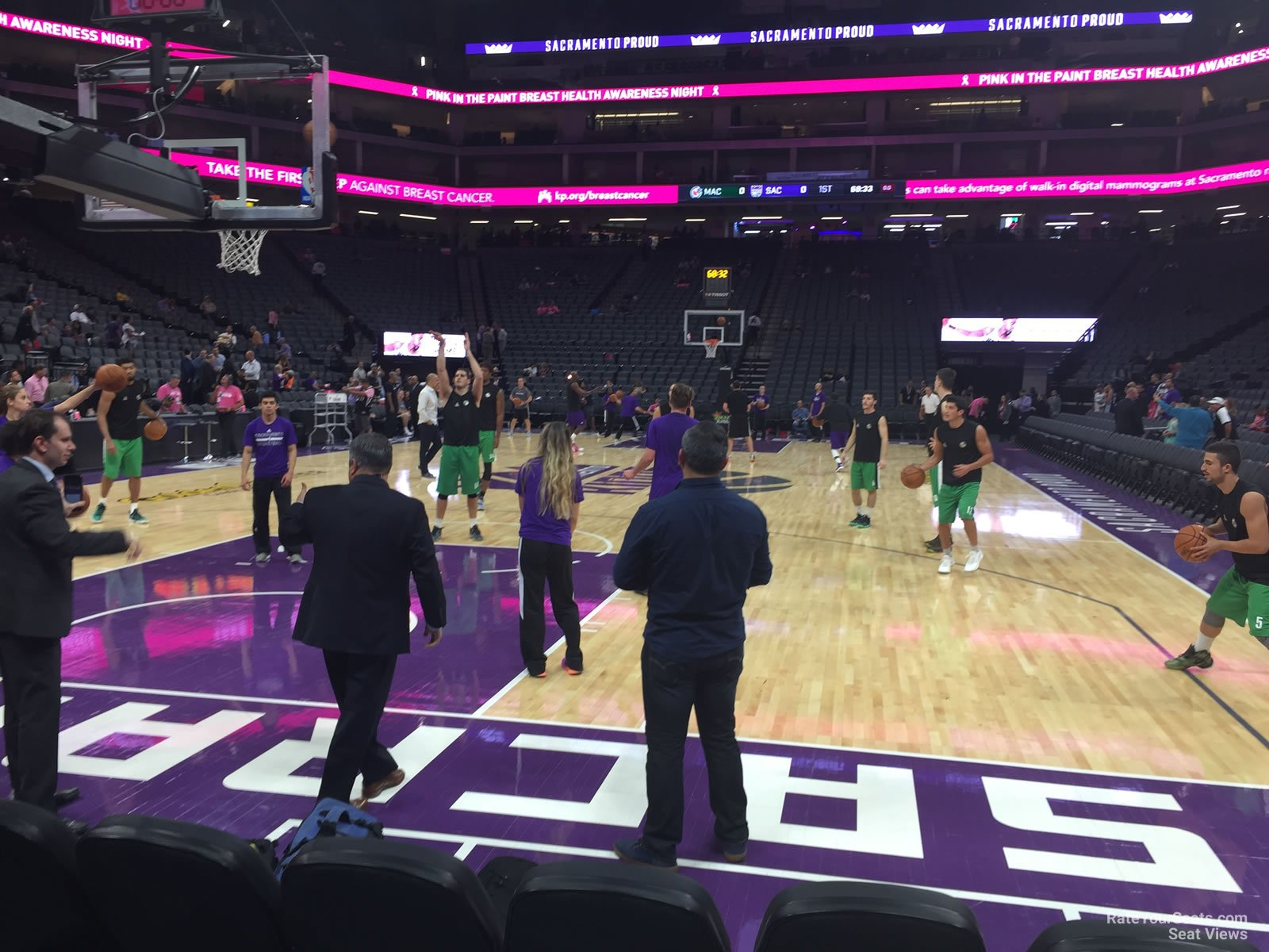 Courtside 9 seat view