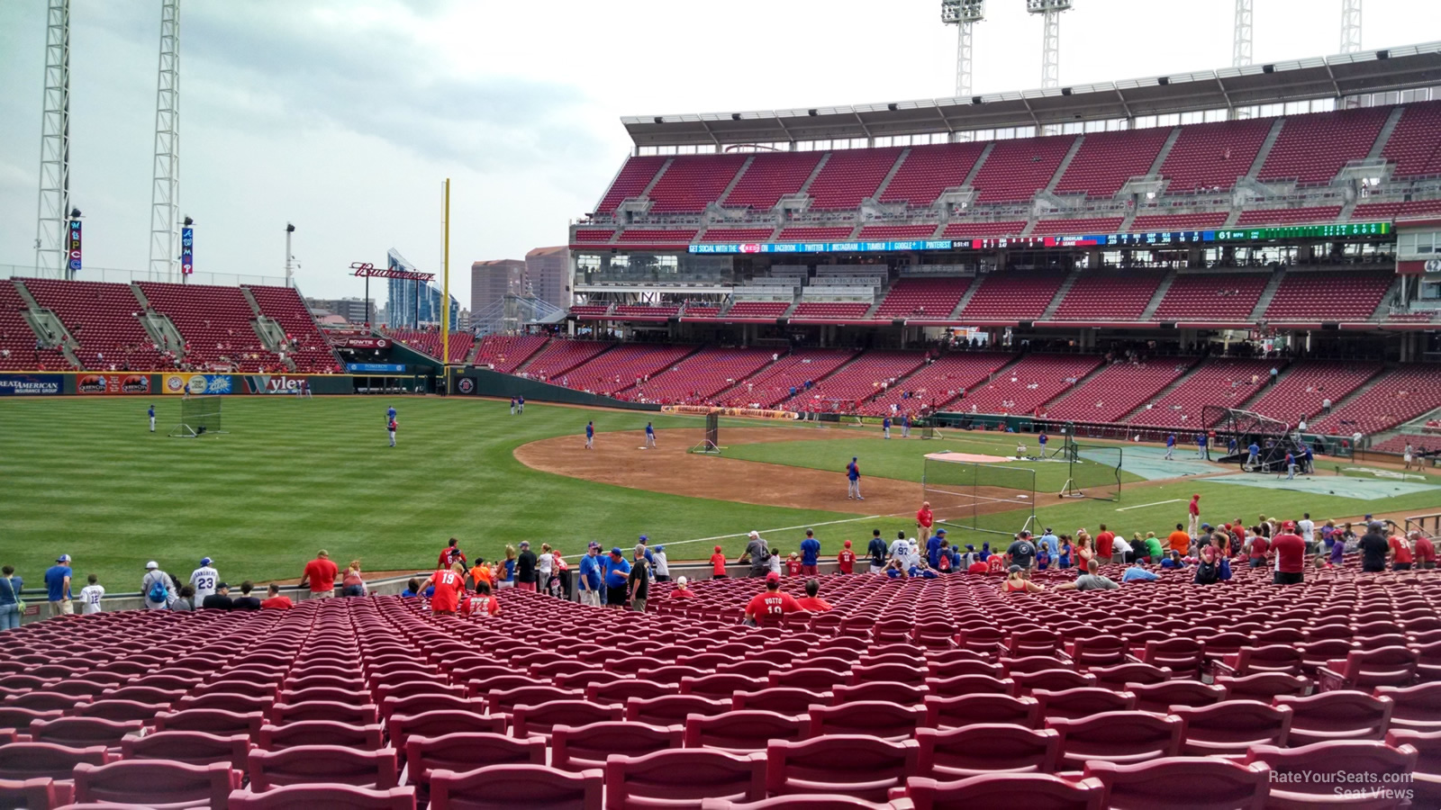 View from Section 111 Row FF at Great American Ball Park