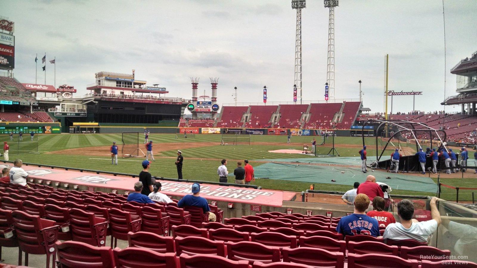 Great American Ball Park Section 119 - Cincinnati Reds
