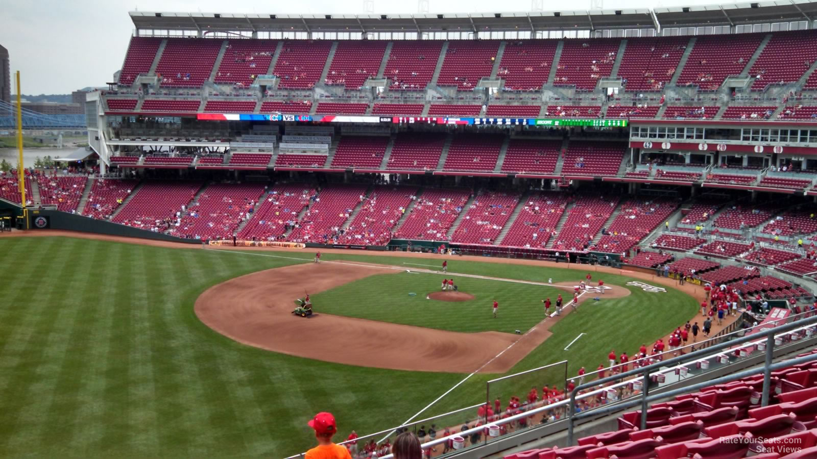 Seat View for Great American Ball Park Section 411, Row G